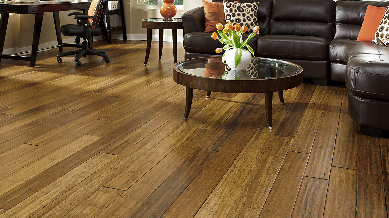 hardwood flooring zero voc of 1 2 x 5 distressed honey strand click morning star xd lumber intended for morning star xd 1 2 x 5 distressed honey strand click
