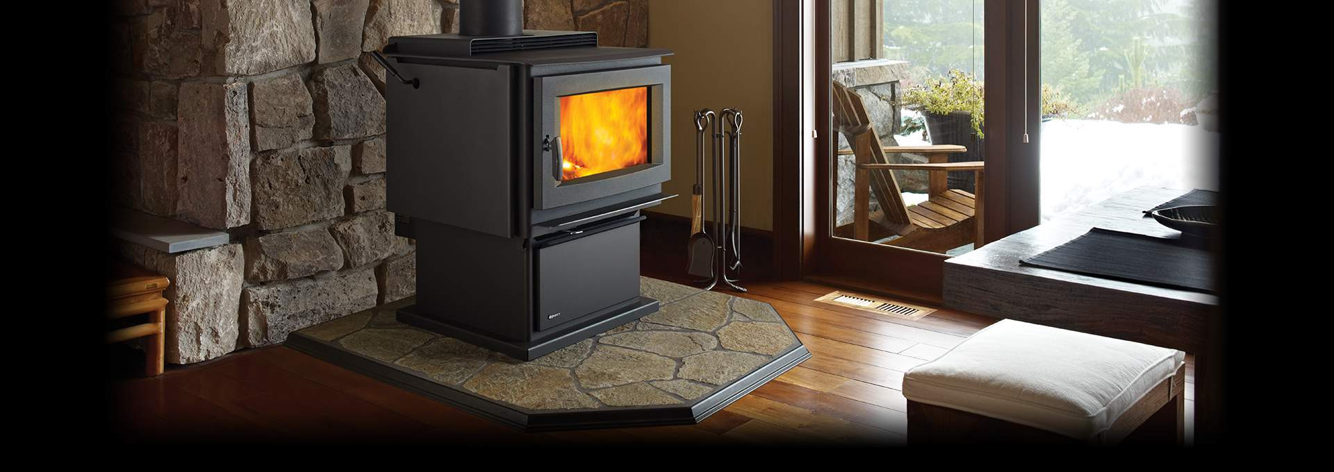 hardwood floors around brick fireplace hearths of wood burning stoves regency fireplace products inside regency pro series feature video