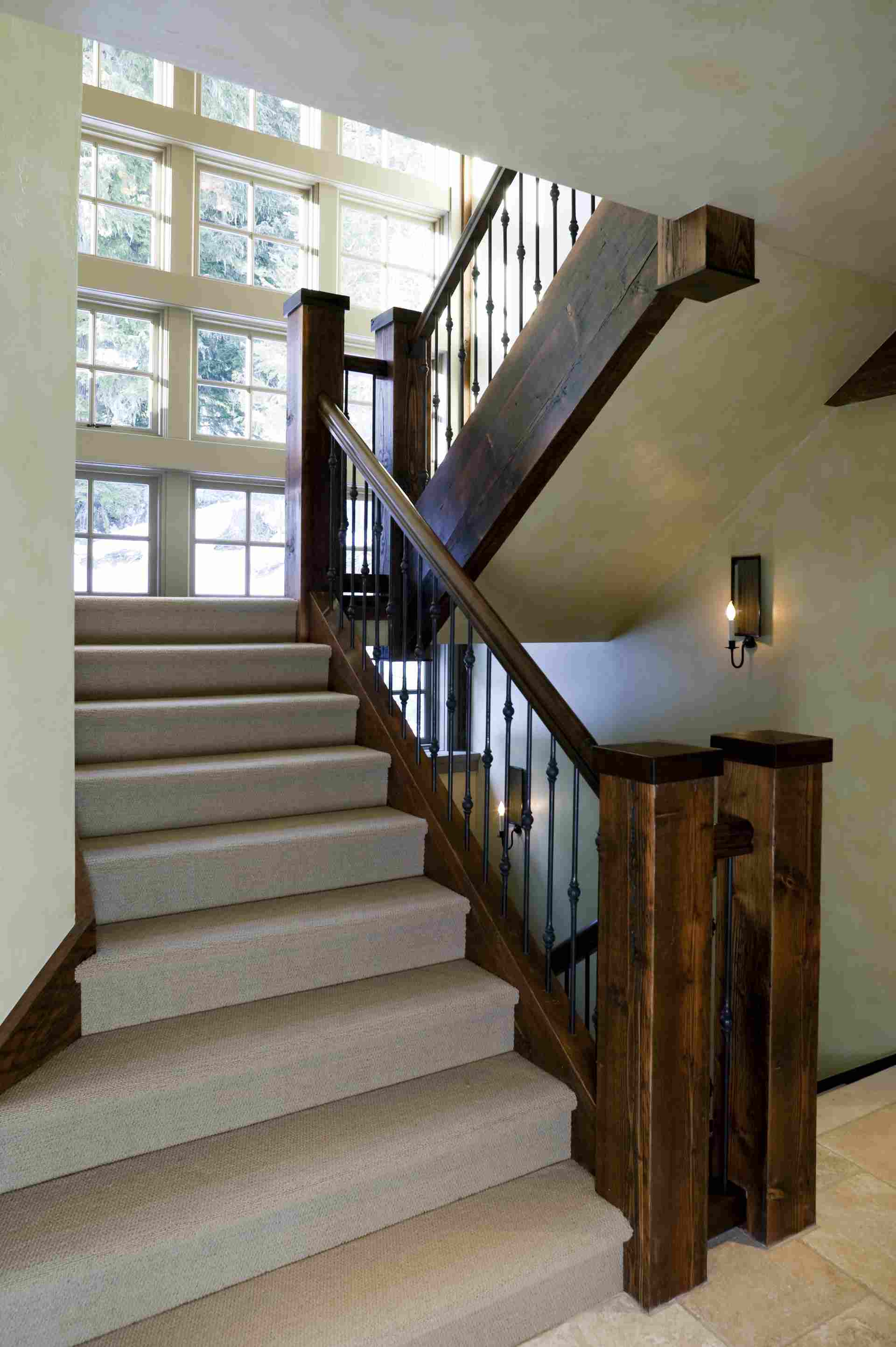 hardwood floors carpet on stairs of patterned carpet with recessed lighting pertaining to modern angled staircase with berber carpet 56a812503df78cf7729bdf69