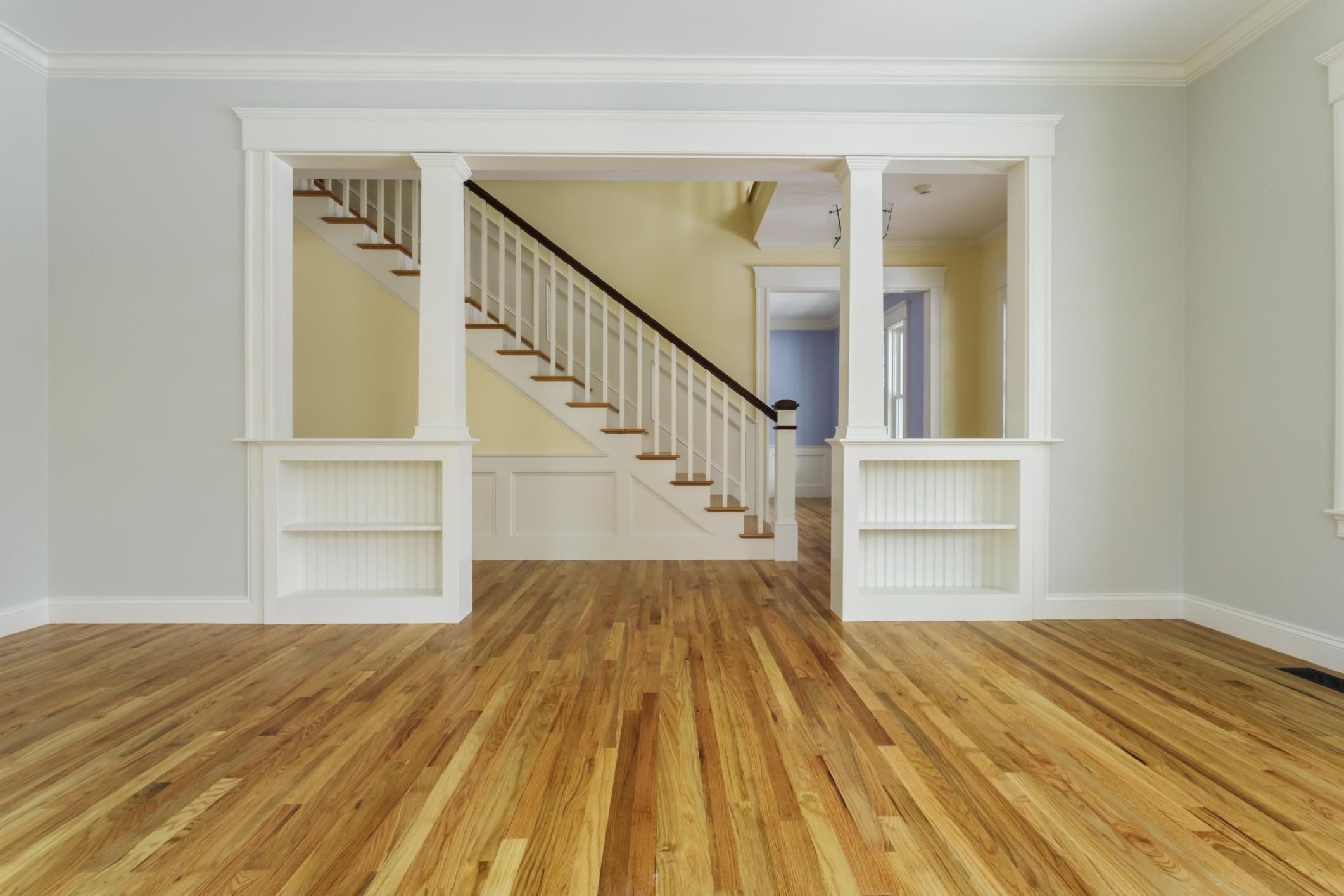 hardwood floors next to tile of guide to solid hardwood floors with 168686571 56a49f213df78cf772834e24