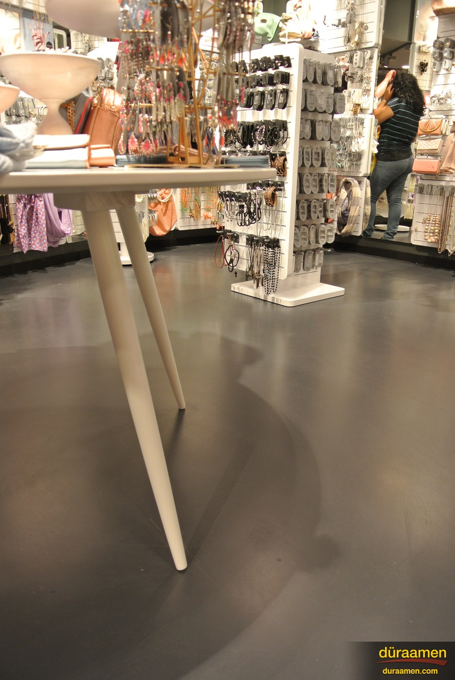 hardwood floors paramus nj of six a jewelry store in paramus nj duraamen regarding the matt polyurethane top coat was the perfect finish to contrast the high shine of the stores interior