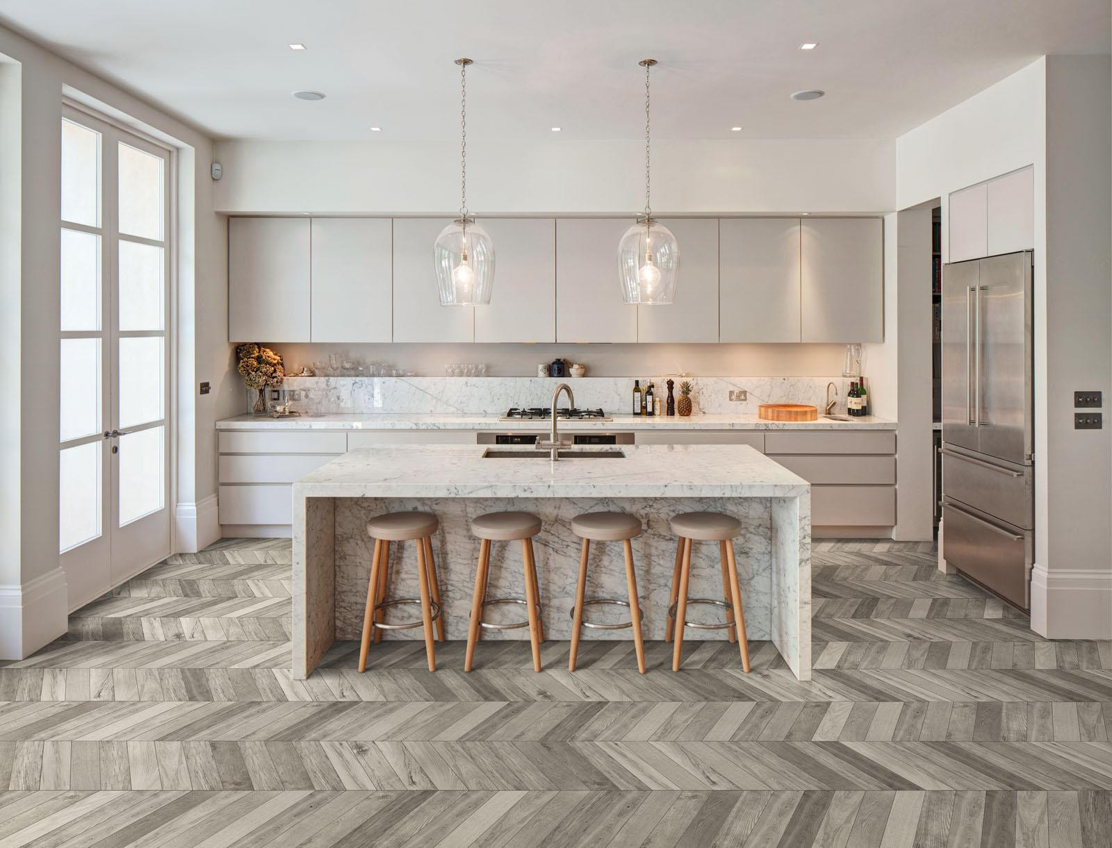 Hardwood Floors Vs Wood Look Tile Of Treverksoul Wood Effect Stoneware Marazzi Intended for Treverksoul Wood Effect Kitchen