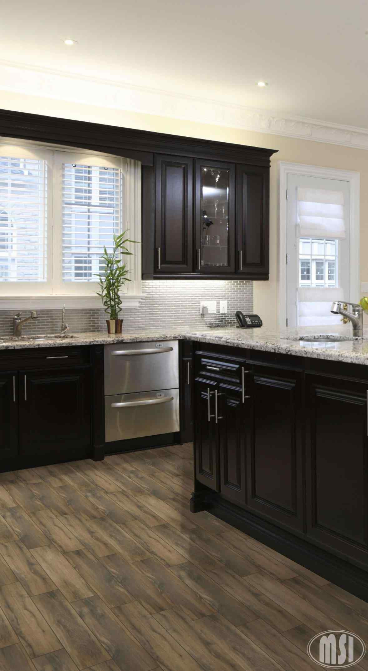 Hardwood Floors With Dark Cabinets Of Color Is Espresso Wood Espresso Cabinets  Armstrong Engineered Wood For