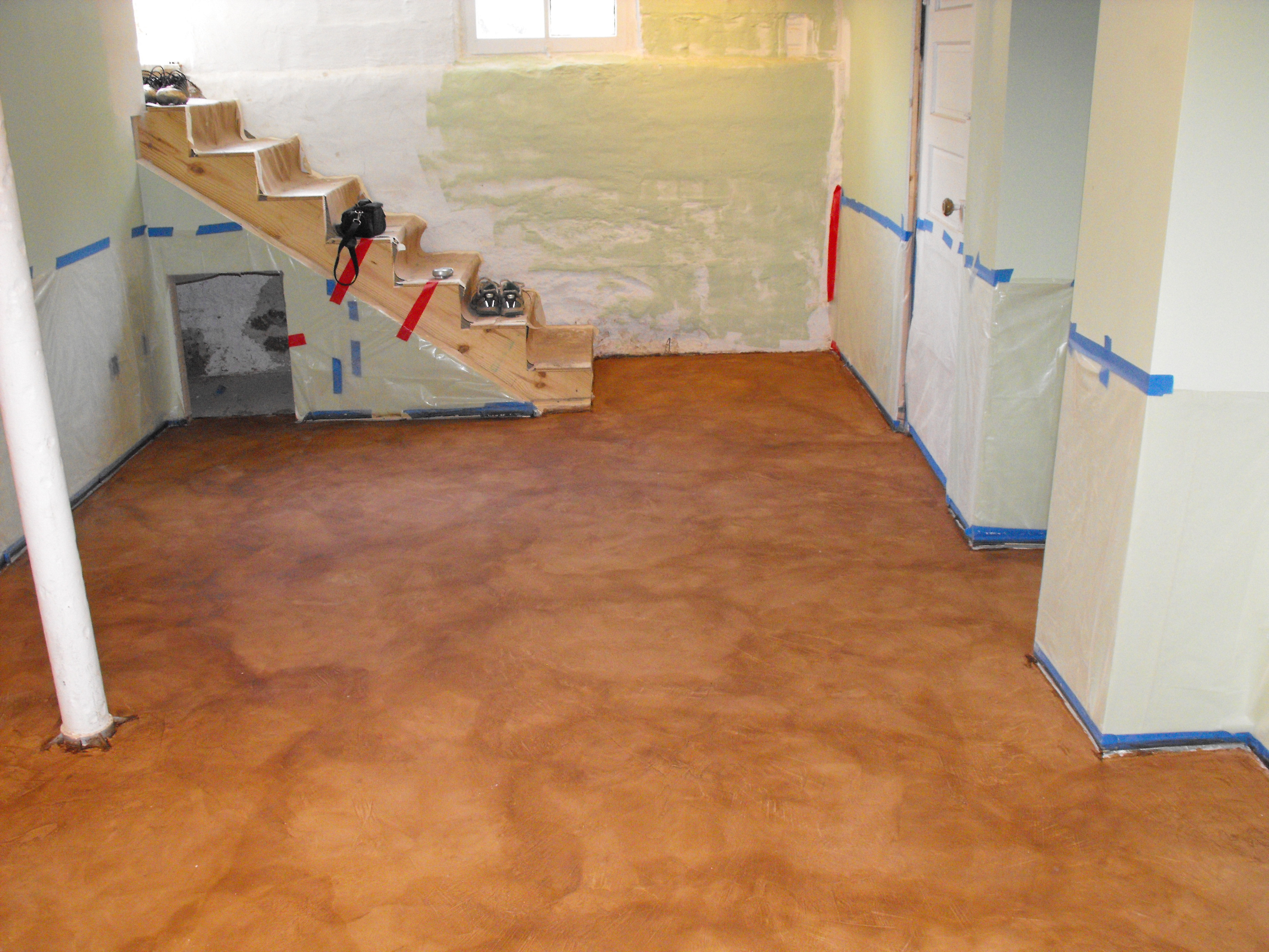 Hardwood On Concrete Basement Floor Of Paint Basement Floor Concrete Natashamillerweb for Painting Unfinished Epoxy Basement Floor with Brown Color