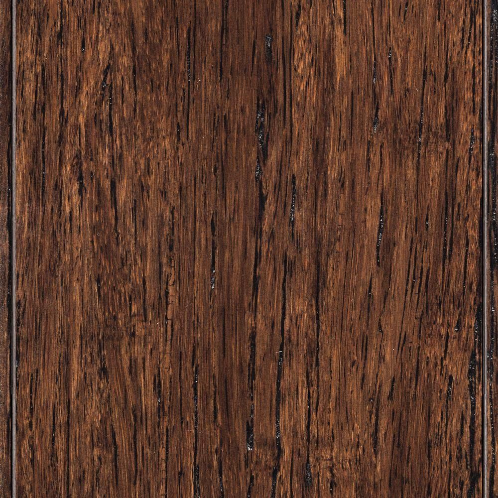 hardwood or bamboo flooring of home legend wire brushed strand woven tobacco 3 8 in t x 3 7 8 in with regard to home legend wire brushed strand woven tobacco 3 8 in t x 3 7 8 in w x 36 1 4 in length solid bamboo flooring 23 41 sq ft case hl211 the home depot