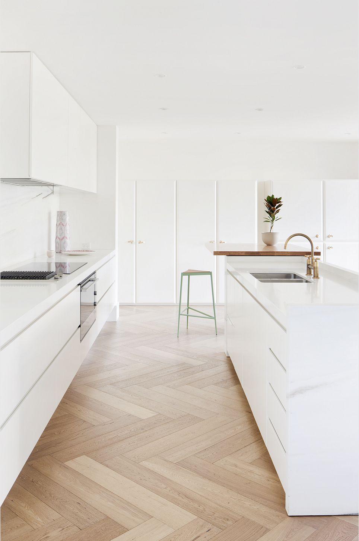 herringbone hardwood floor installation cost of toorak residence home sweet home pinterest kitchen kitchen in toorak residence leibal more