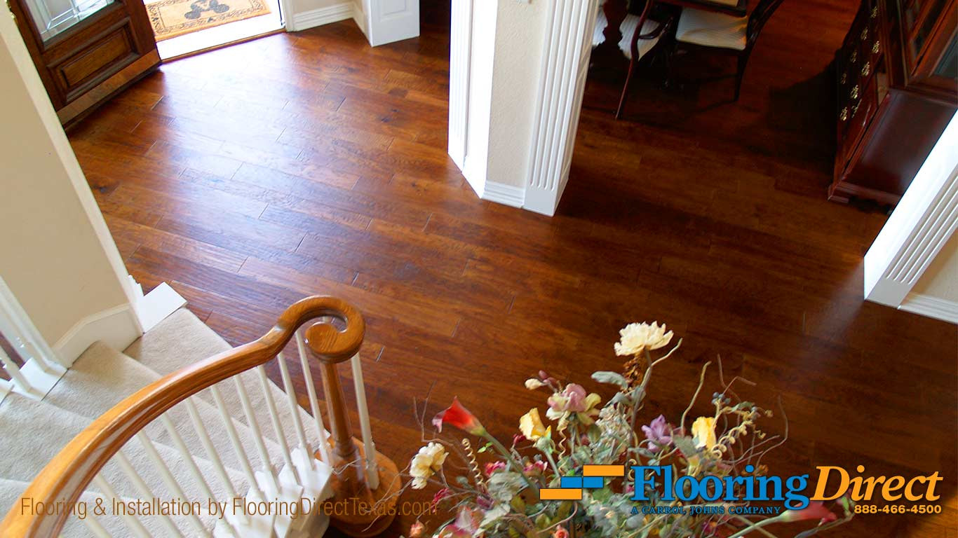 hickory hardwood flooring hardness of wood flooring installation in garland flooring direct pertaining to hardwood flooring install by flooring direct in garland texas residence