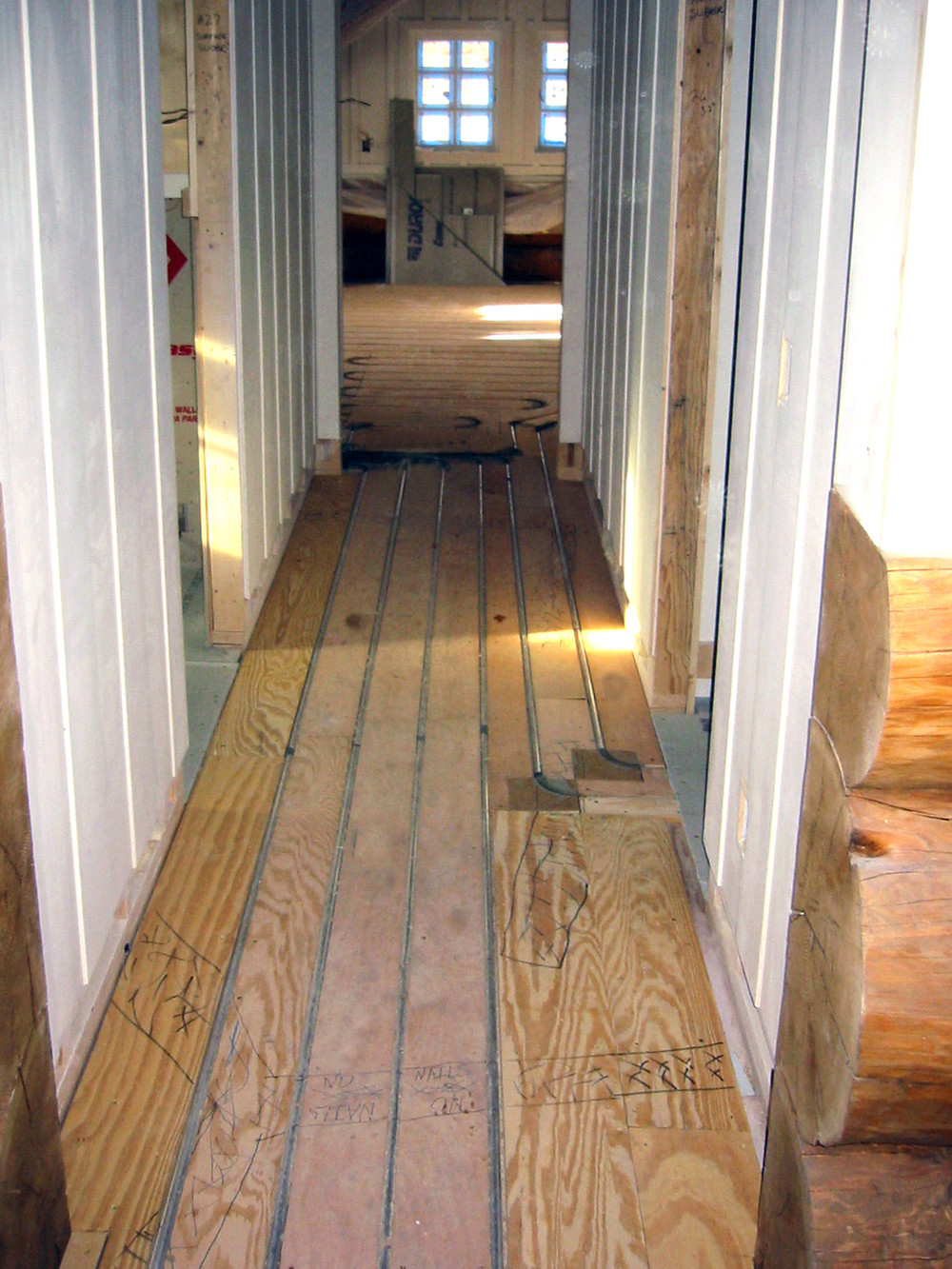 How Do You Install Hardwood Floors On Concrete Of Tfinu Radiant Design Supply Inc with Regard to Log Hallway