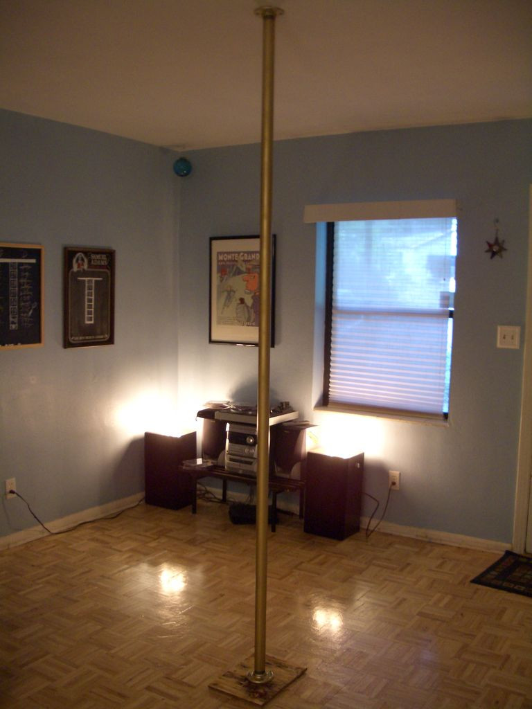 how much does it cost to refinish hardwood floors diy of diy stripper pole stripper not included 9 steps with pictures in picture of step back and take it all in