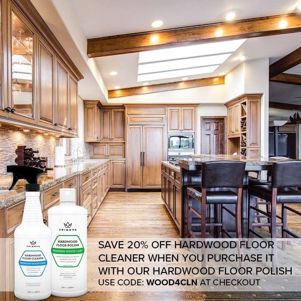 how much it cost to refinish hardwood floors of amazon com trinova hardwood floor polish and restorer high gloss for amazon com trinova hardwood floor polish and restorer high gloss wax protective coating best resurfacing applicator with mop or machine to restore