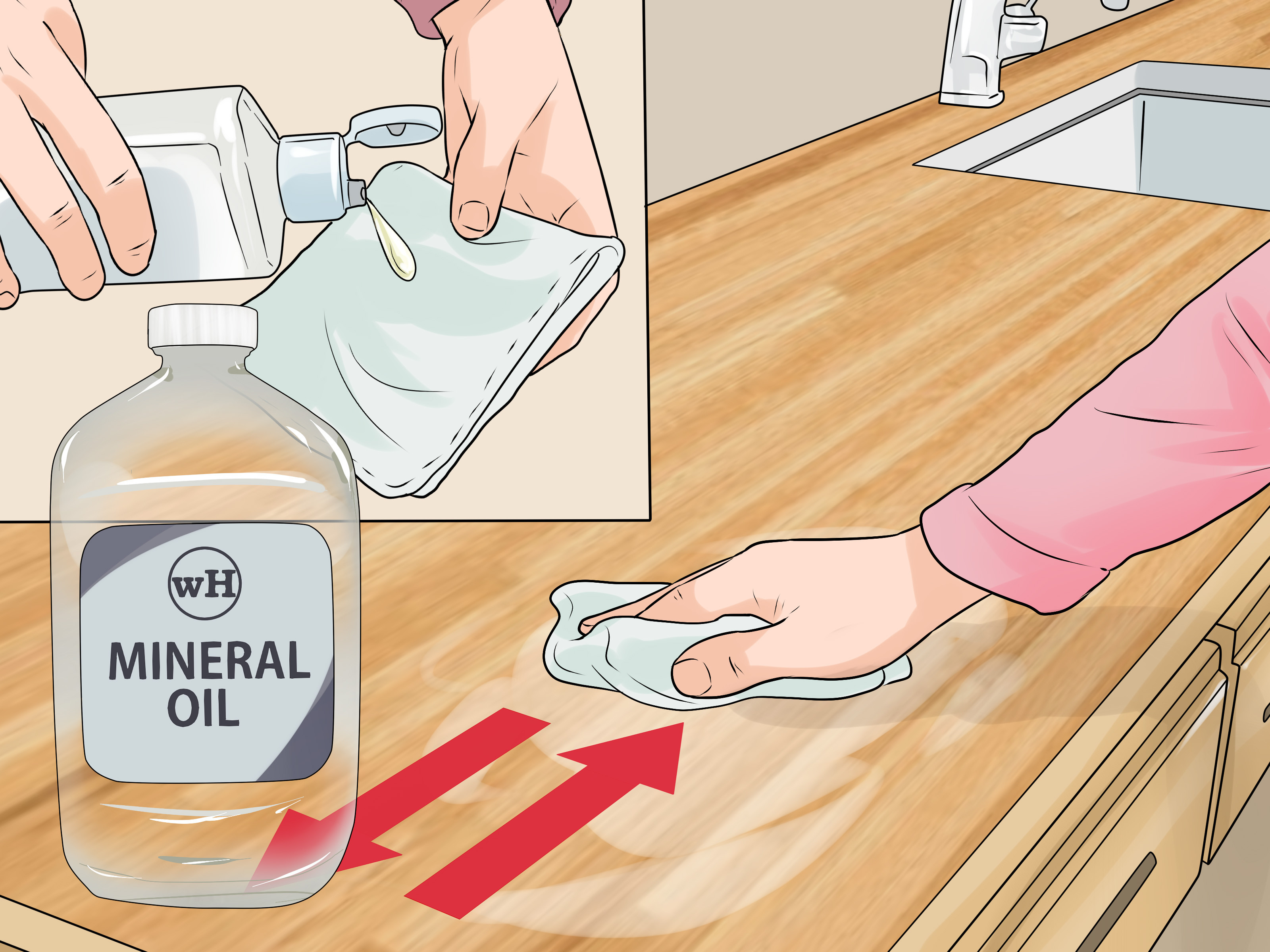how to clean hardwood floors with vinegar solution of 3 ways to clean wood countertops wikihow with clean wood countertops step 9