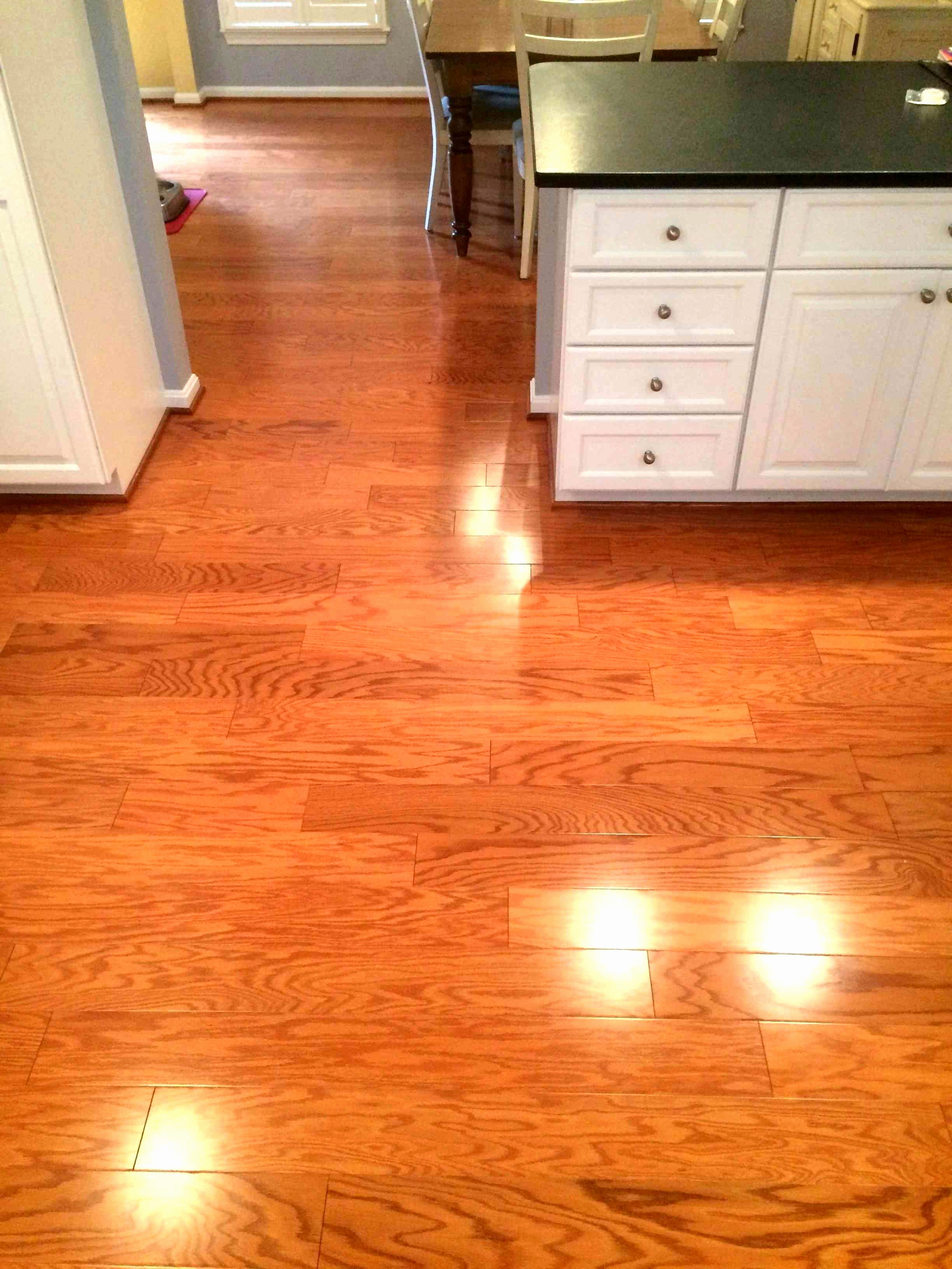 Cut Hardwood Floor Transition