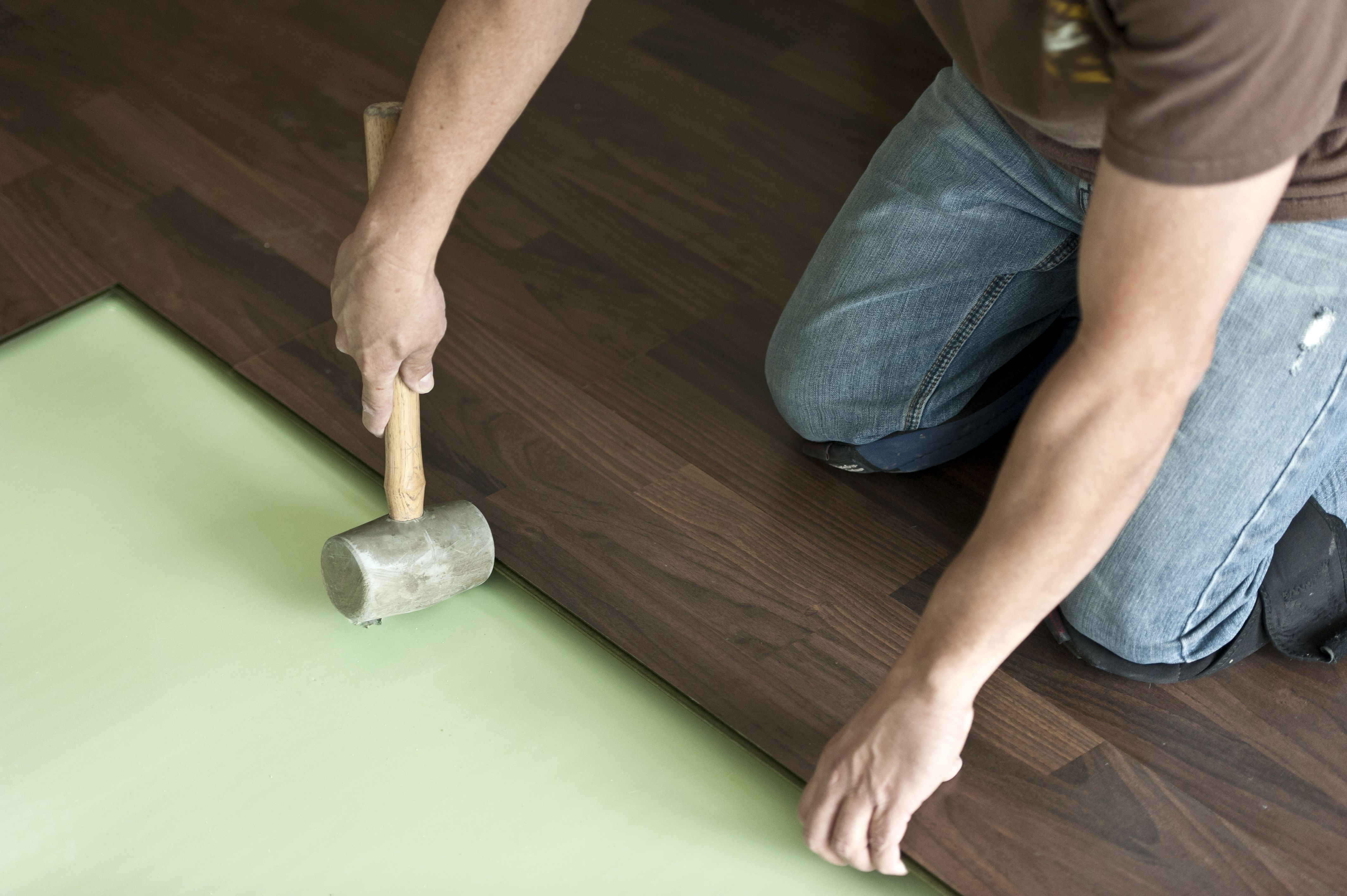how to install floating hardwood floors yourself of can a foam pad be use under solid hardwood flooring in installing hardwood floor 155149312 57e967d45f9b586c35ade84a
