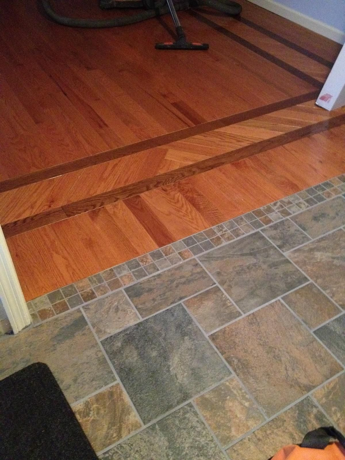 how to install hardwood floor borders of pinwheel slate floor entry foyer connected to hardwood floor with within pinwheel slate floor entry foyer connected to hardwood floor with banded border using a 45deg offset
