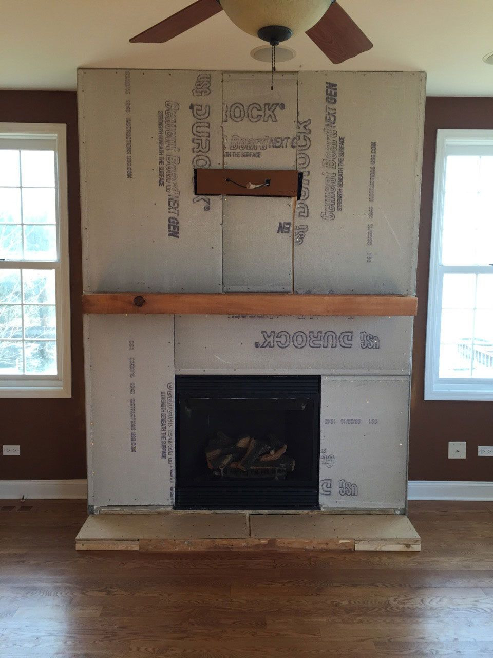 How to Install Hardwood Floor Near Wall Of A Diy Stone Veneer Installation Step by Step Fireplace Regarding A Step by Step Diy Stone Veneer Installation On A Fireplace In Only 4 Days