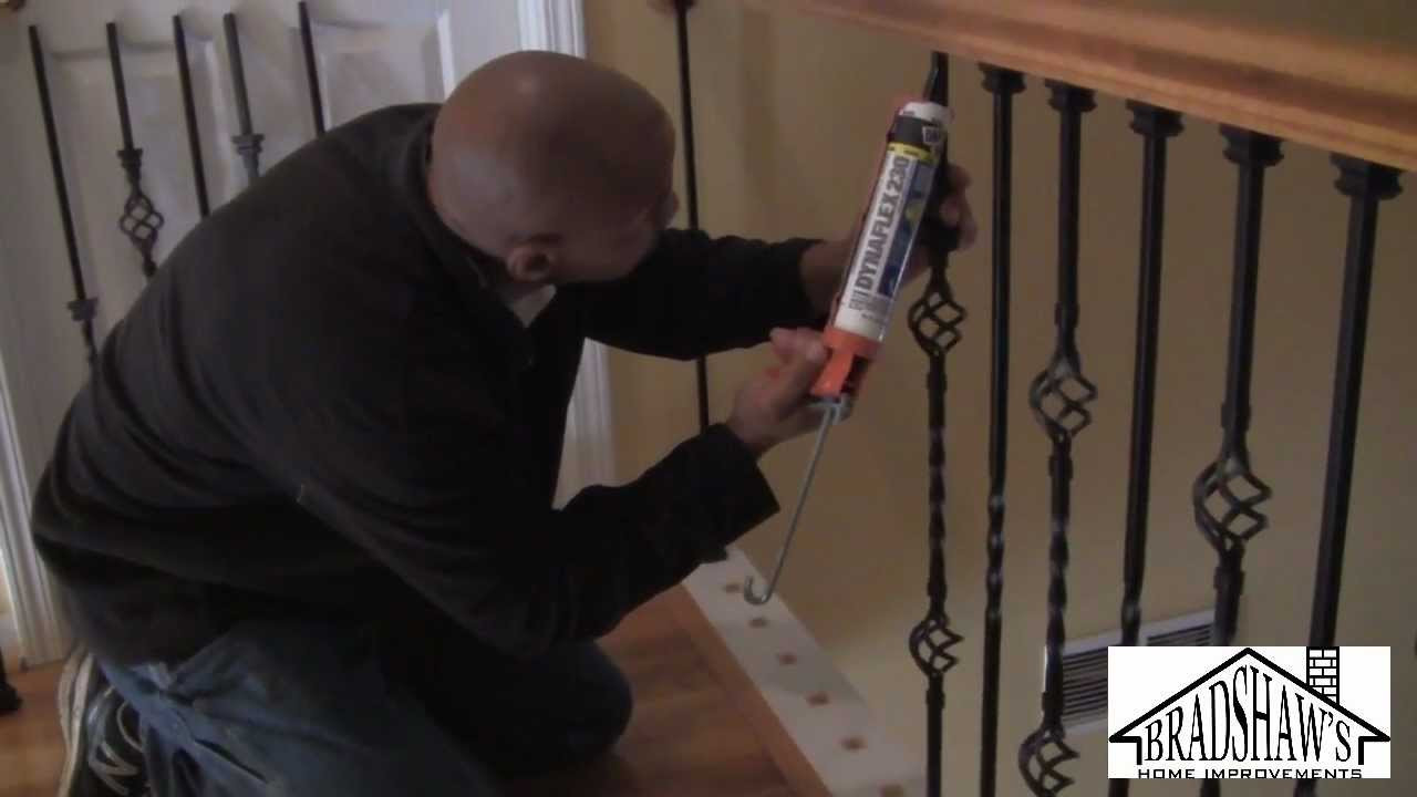 how to install hardwood flooring around stairs of how to install stair spindles youtube with maxresdefault