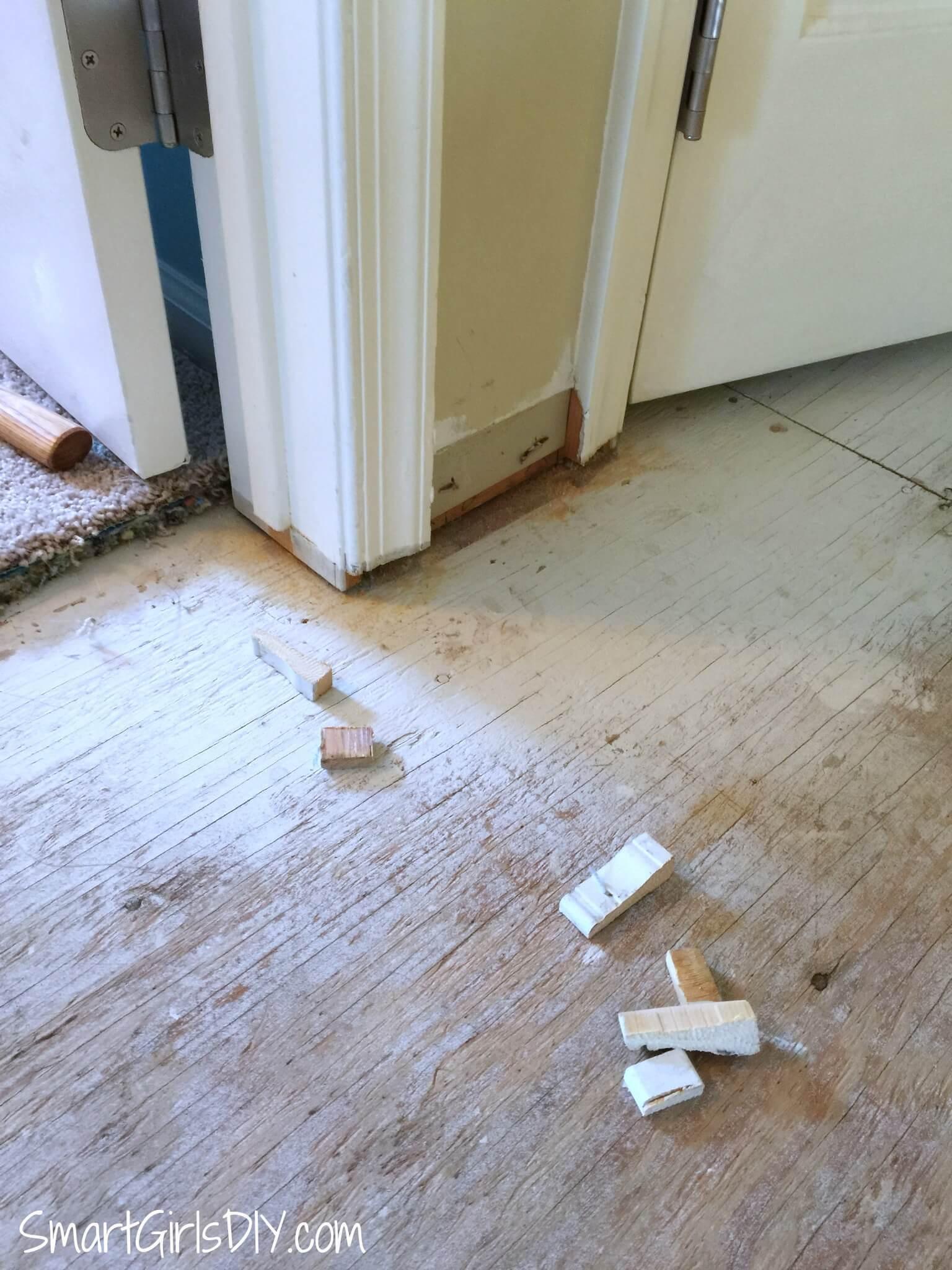 how to install hardwood flooring around stairs of upstairs hallway 1 installing hardwood floors throughout undercut door frames
