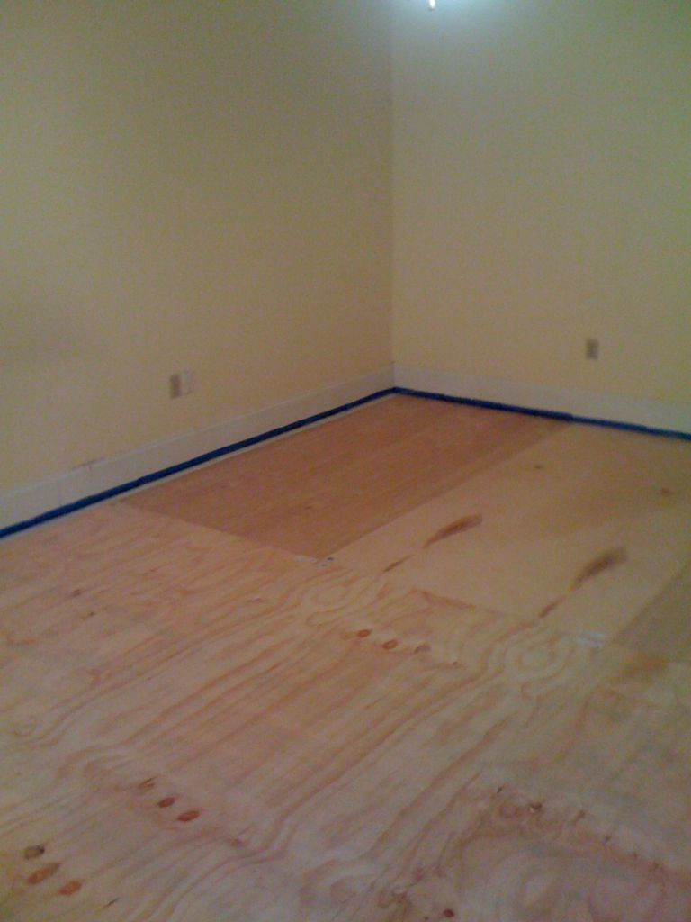 how to install hardwood flooring under toe kick of diy plywood floors 9 steps with pictures intended for picture of install the plywood floor