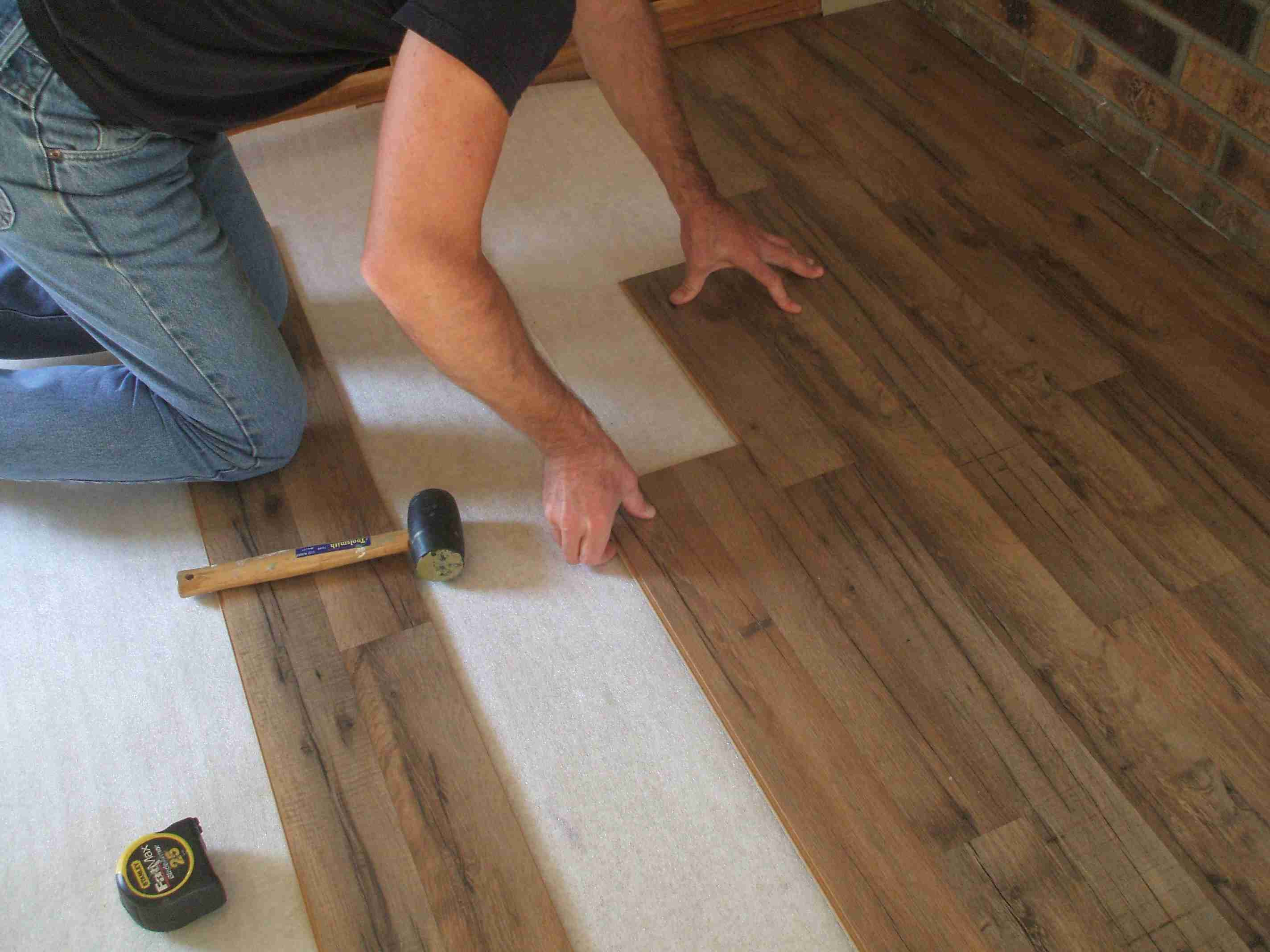 how to install hardwood floors on concrete without glue of laminate flooring installation made easy with regard to installing laminate stagger joints 56a49e453df78cf772834b1f jpg