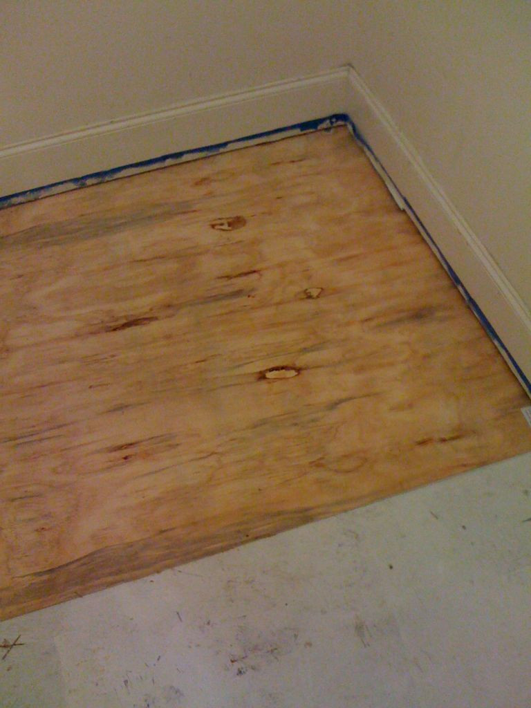 how to install hardwood floors over concrete of diy plywood floors 9 steps with pictures intended for picture of install the plywood floor
