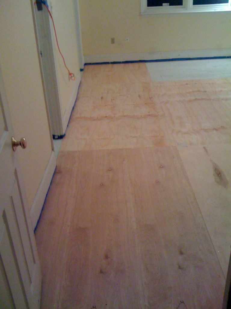 how to install hardwood floors without nailer of diy plywood floors 9 steps with pictures in picture of install the plywood floor