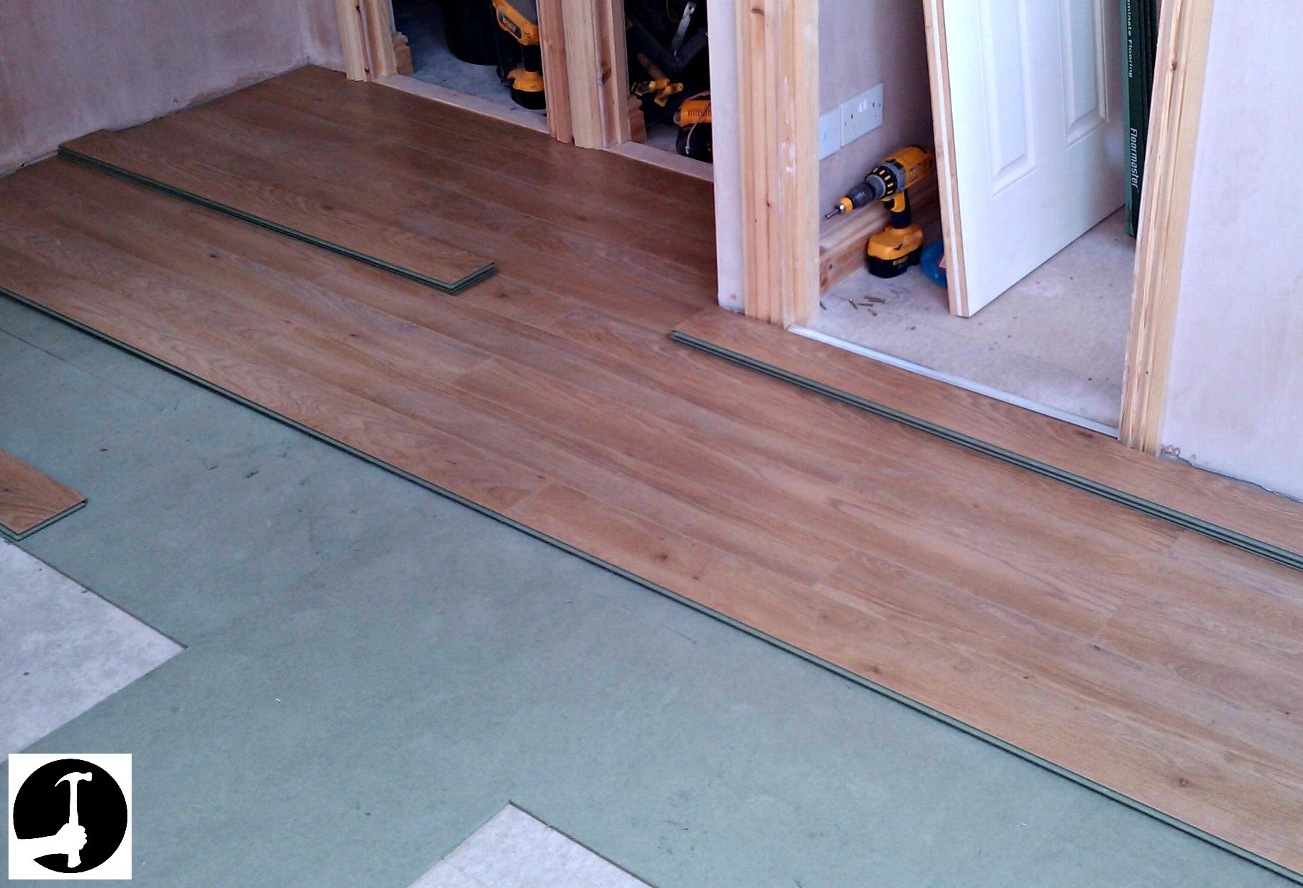 how to install nail down hardwood floor on concrete of how to install laminate flooring with ease glued glue less systems pertaining to laminate started