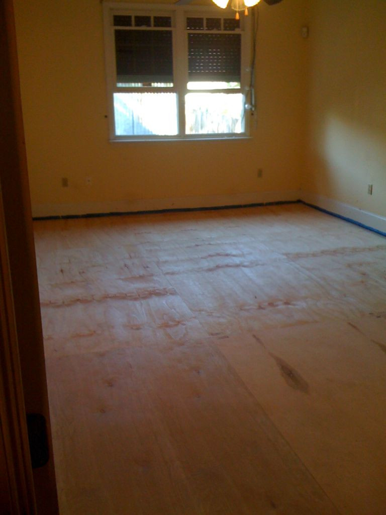 how to install quarter round on hardwood floors of diy plywood floors 9 steps with pictures throughout picture of install the plywood floor