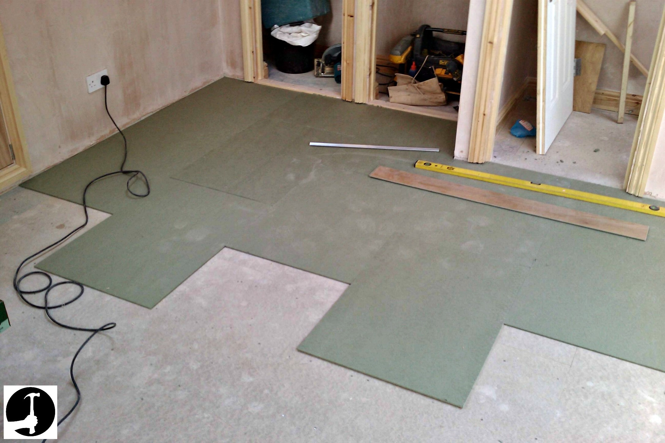 how to lay hardwood floor over concrete of how to install laminate flooring with ease glued glue less systems with laminate underlay