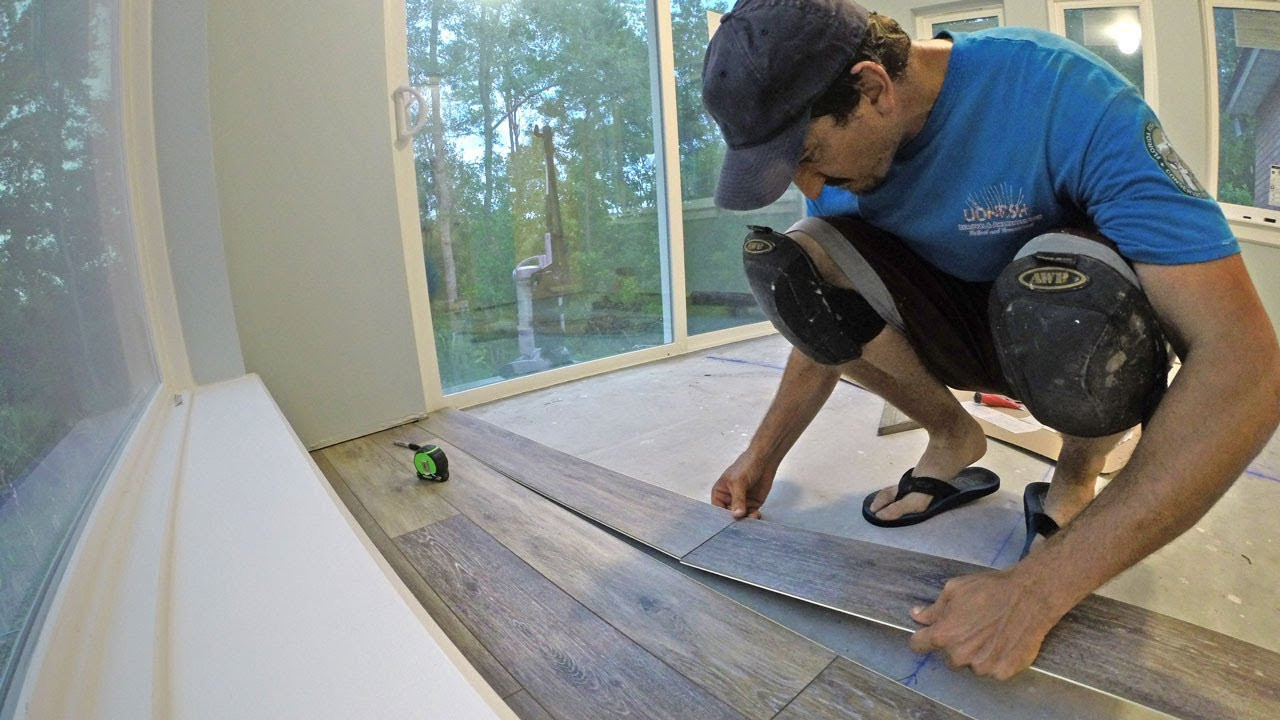 How to Lay Hardwood Tile Flooring Of Install Engineered Vinyl Plank Flooring Vid 12 Youtube Inside Install Engineered Vinyl Plank Flooring Vid 12