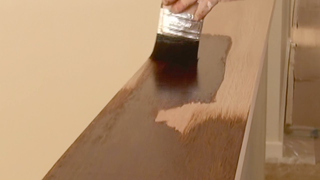 How to Paint Hardwood Floors Video Of How to Stain Wood How to Apply Wood Stain and Get An even Finish In How to Stain Wood How to Apply Wood Stain and Get An even Finish Using Brush or Rag Technique Youtube