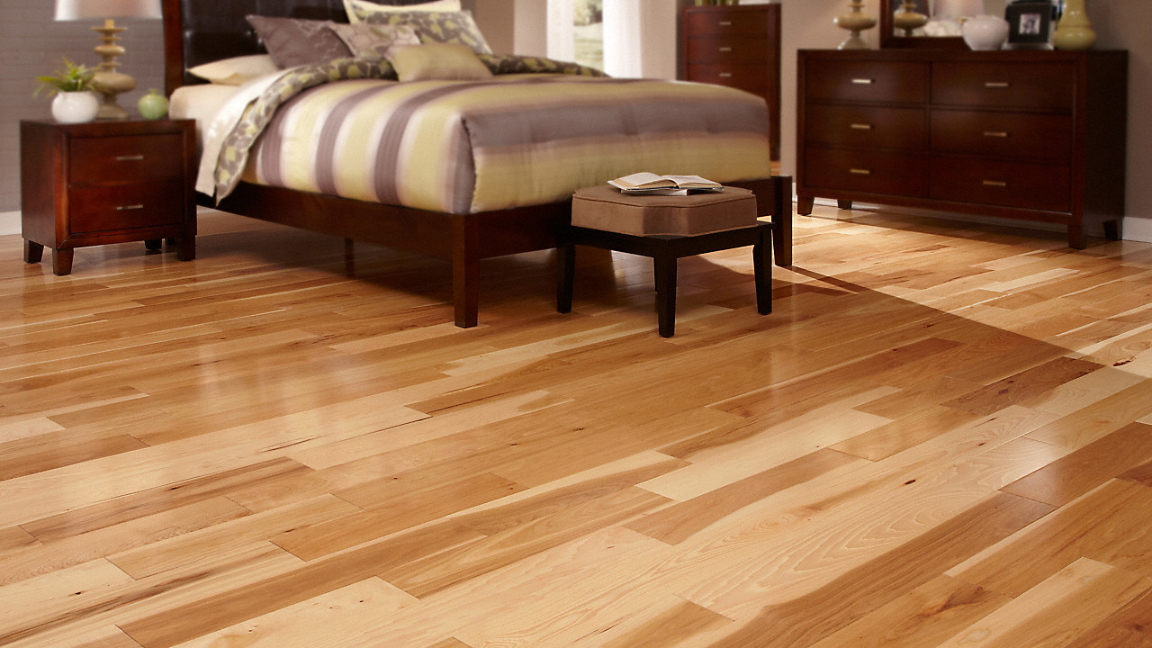 how to put down hardwood floors video of 1 2 x 5 natural hickory bellawood engineered lumber liquidators in videos