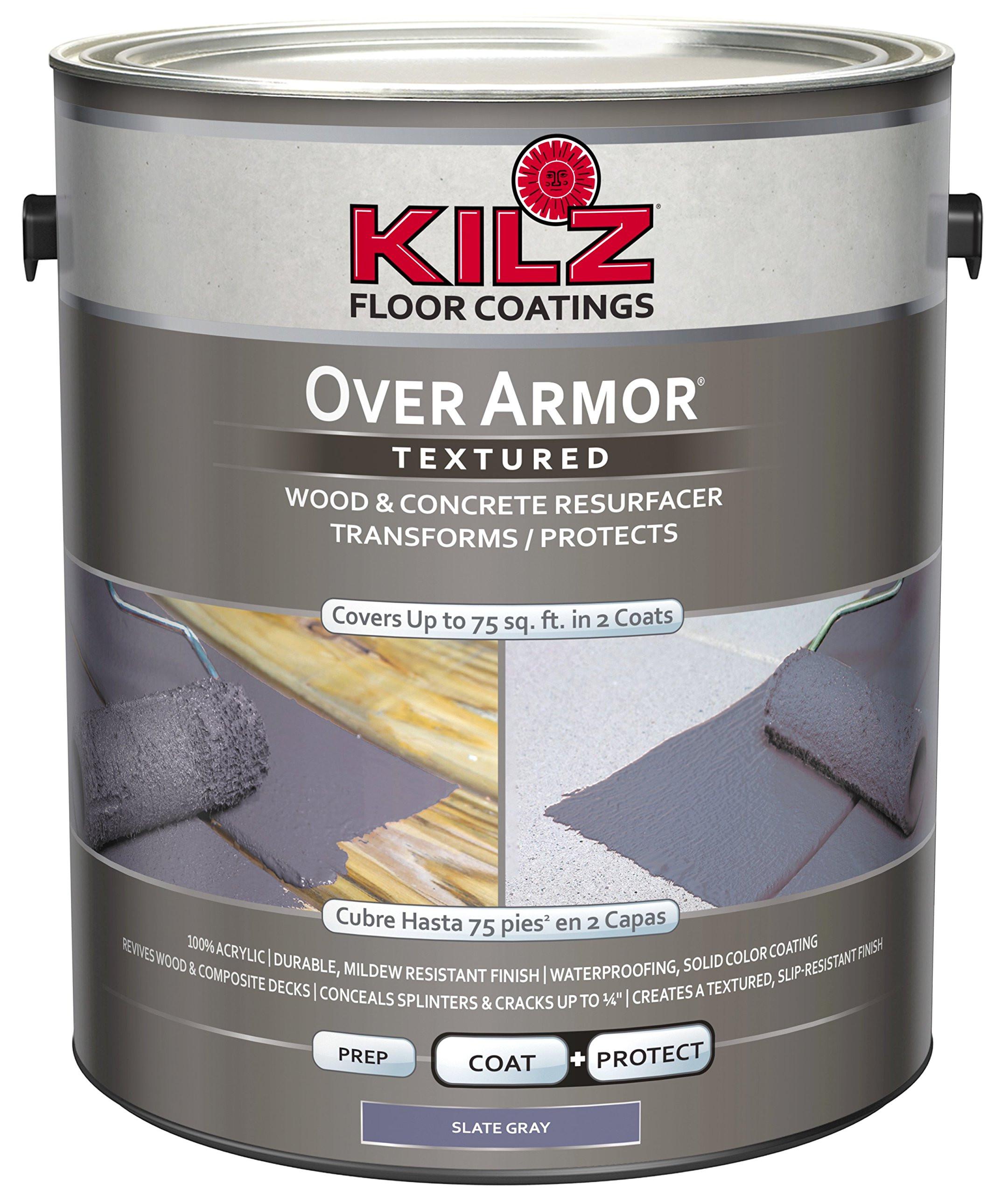 how to put hardwood floor on concrete of kilz over armor textured wood concrete coating 1 gallon slate gray throughout kilz over armor textured wood concrete coating 1 gallon slate gray