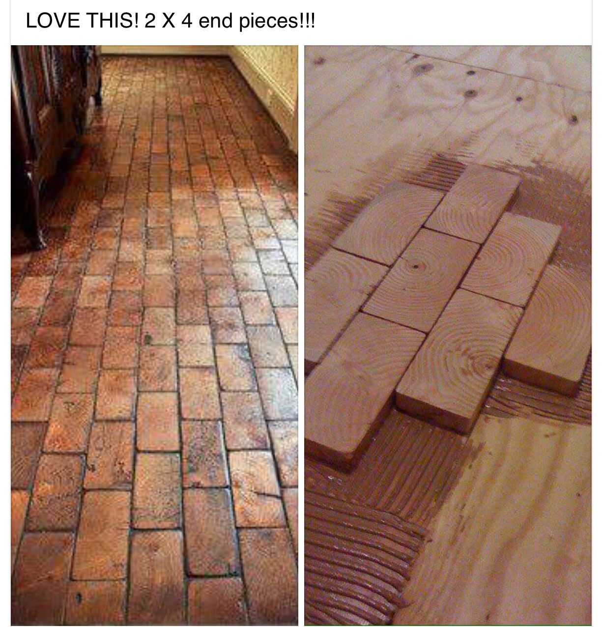 how to sand and refinish hardwood floors yourself of 2x4 faux brick floor with wood blocks wooden blocks for fake brick pertaining to 2x4 faux brick floor with wood blocks wooden blocks for fake brick flooring awesome diy