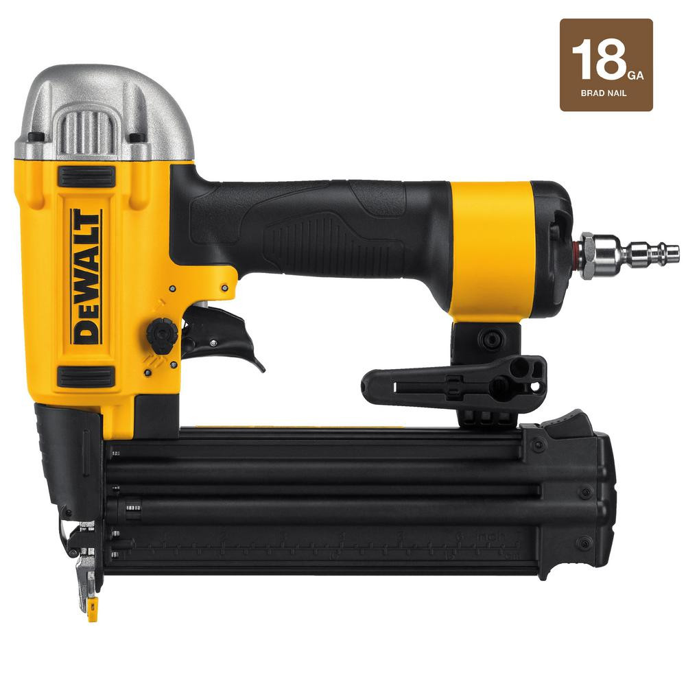 husky hardwood floor cleat nailer of dewalt 18 gauge pneumatic brad nailer dwfp12233 the home depot with dewalt 18 gauge pneumatic brad nailer