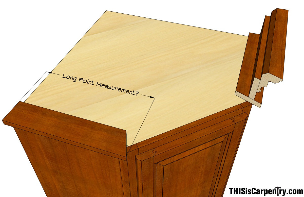 install hardwood floor 45 degree angle of finding the right angle thisiscarpentry inside but figuring out the long point measurement on the corner cabinet wasnt so easy rather than transferring lines back onto the inside of the cabinet and