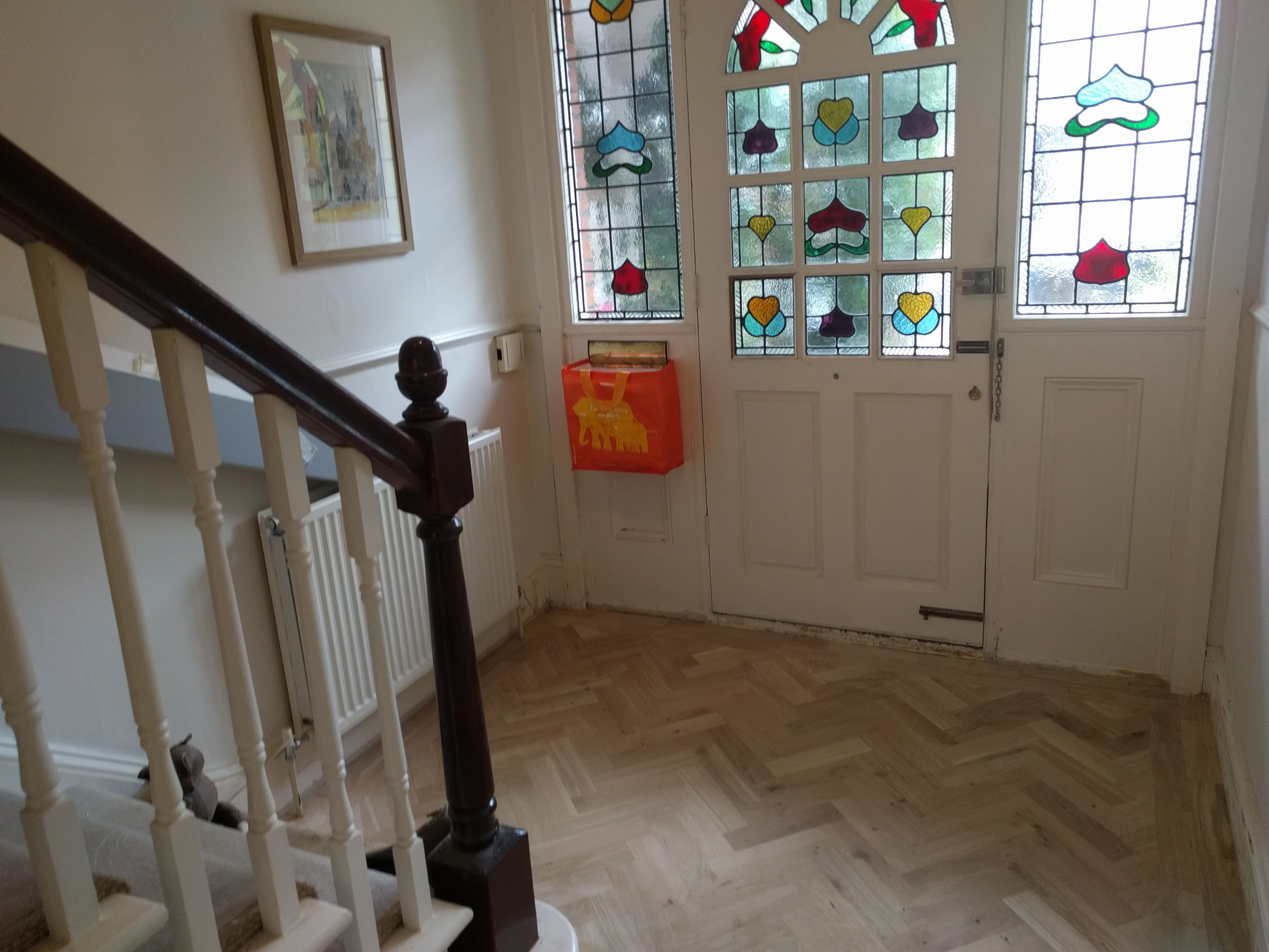 installing engineered hardwood flooring on stairs of we like to think of everything when we install wood flooring a bag in we like to think of everything when we install wood flooring a bag fitted underneath