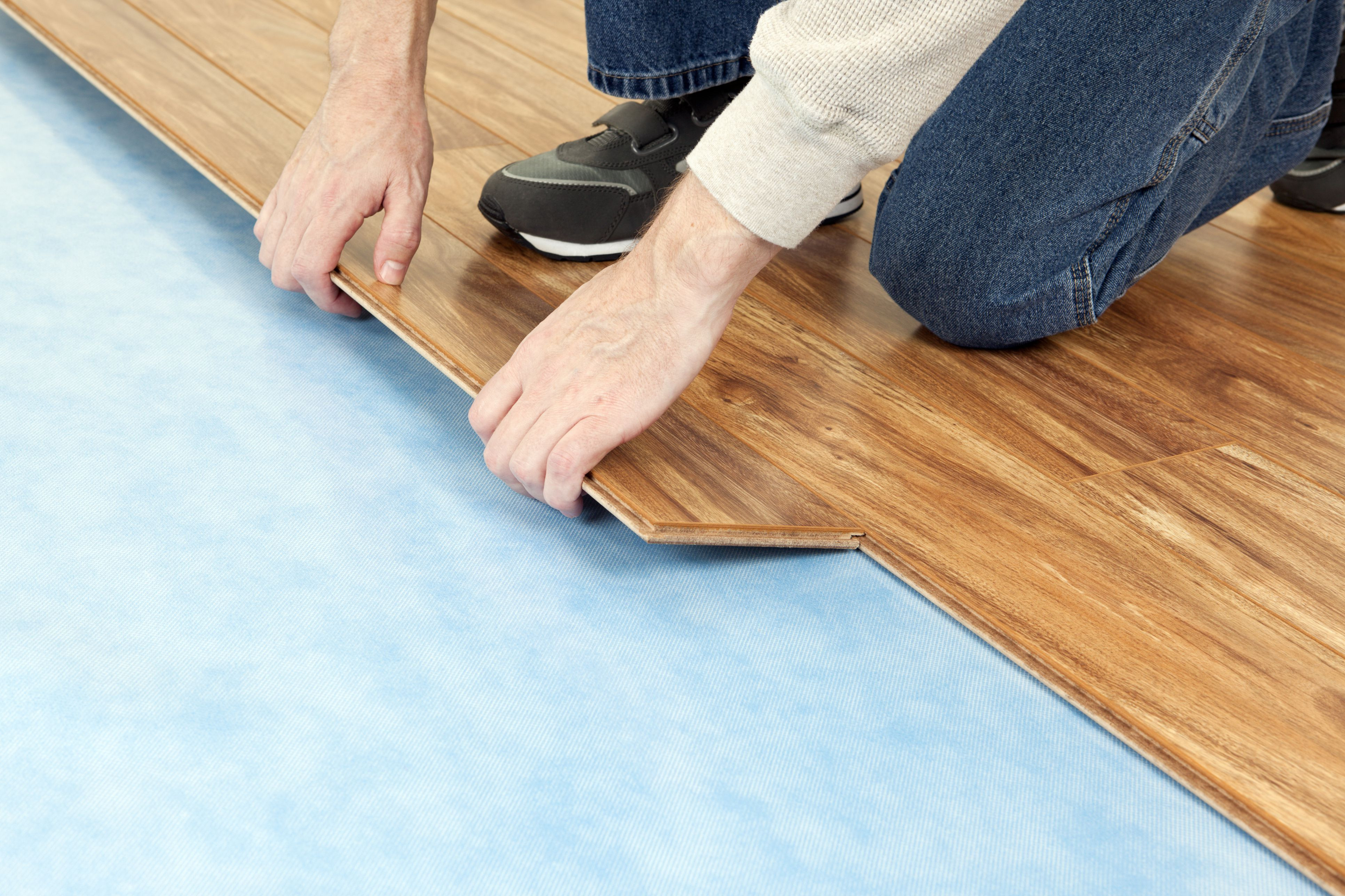 installing hardwood floors in existing kitchen of flooring underlayment the basics intended for new floor installation 185270632 582b722c3df78c6f6af0a8ab
