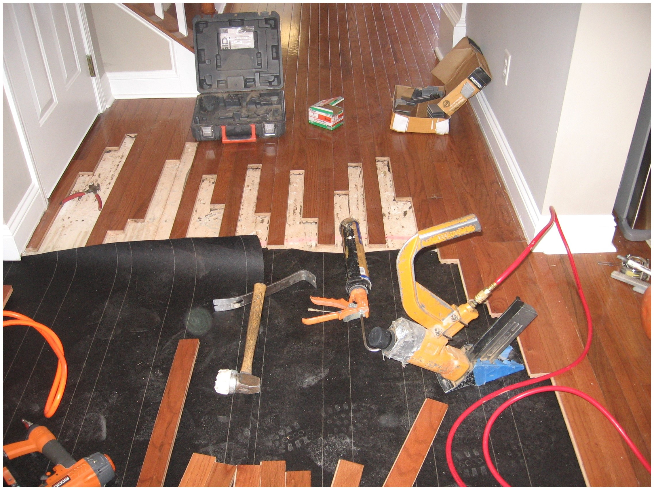 Installing Nail Down Hardwood Floors