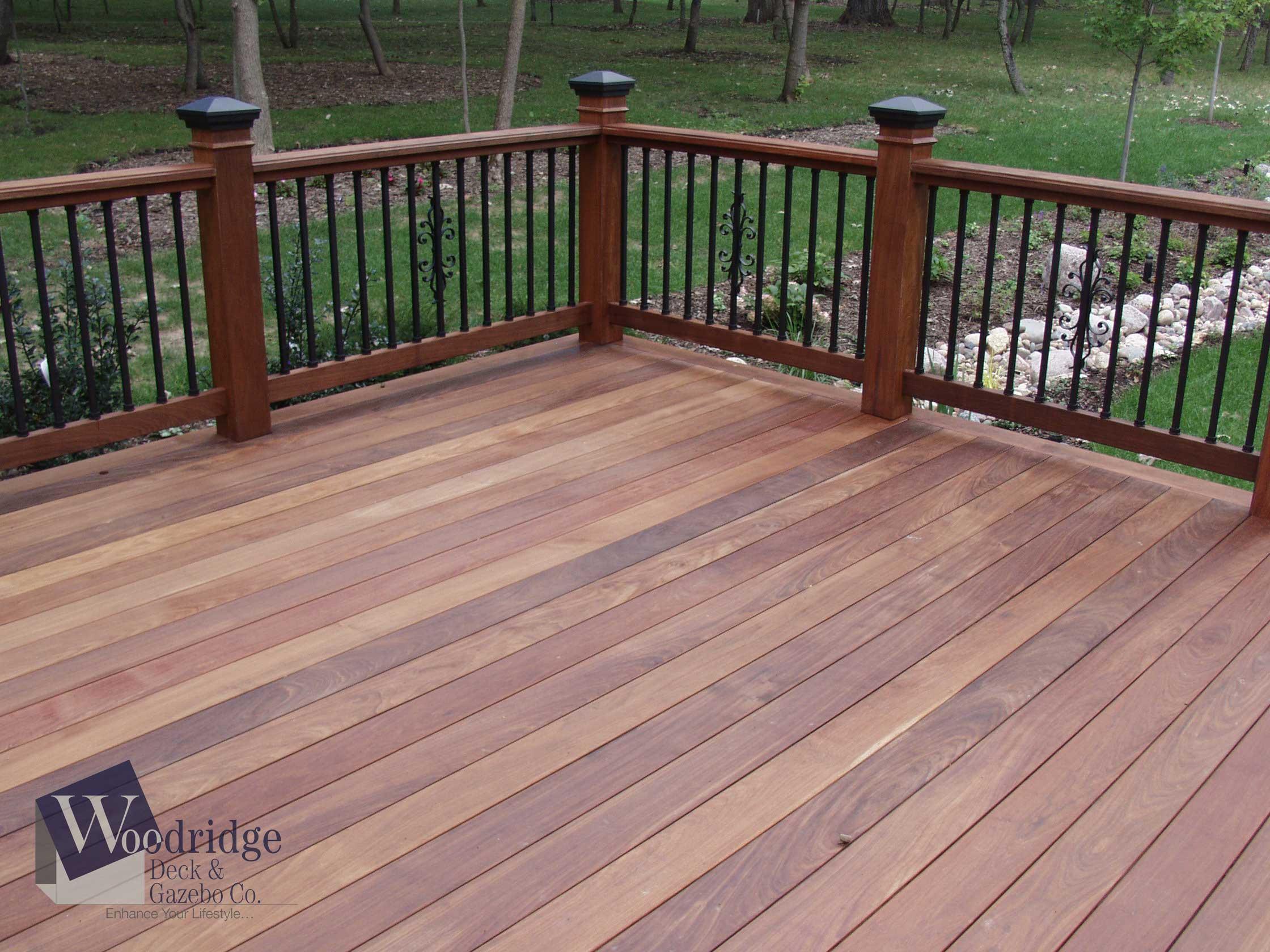 ipe hardwood flooring reviews of decks by woodridge with ff 02 ipe deck with dekor balusters