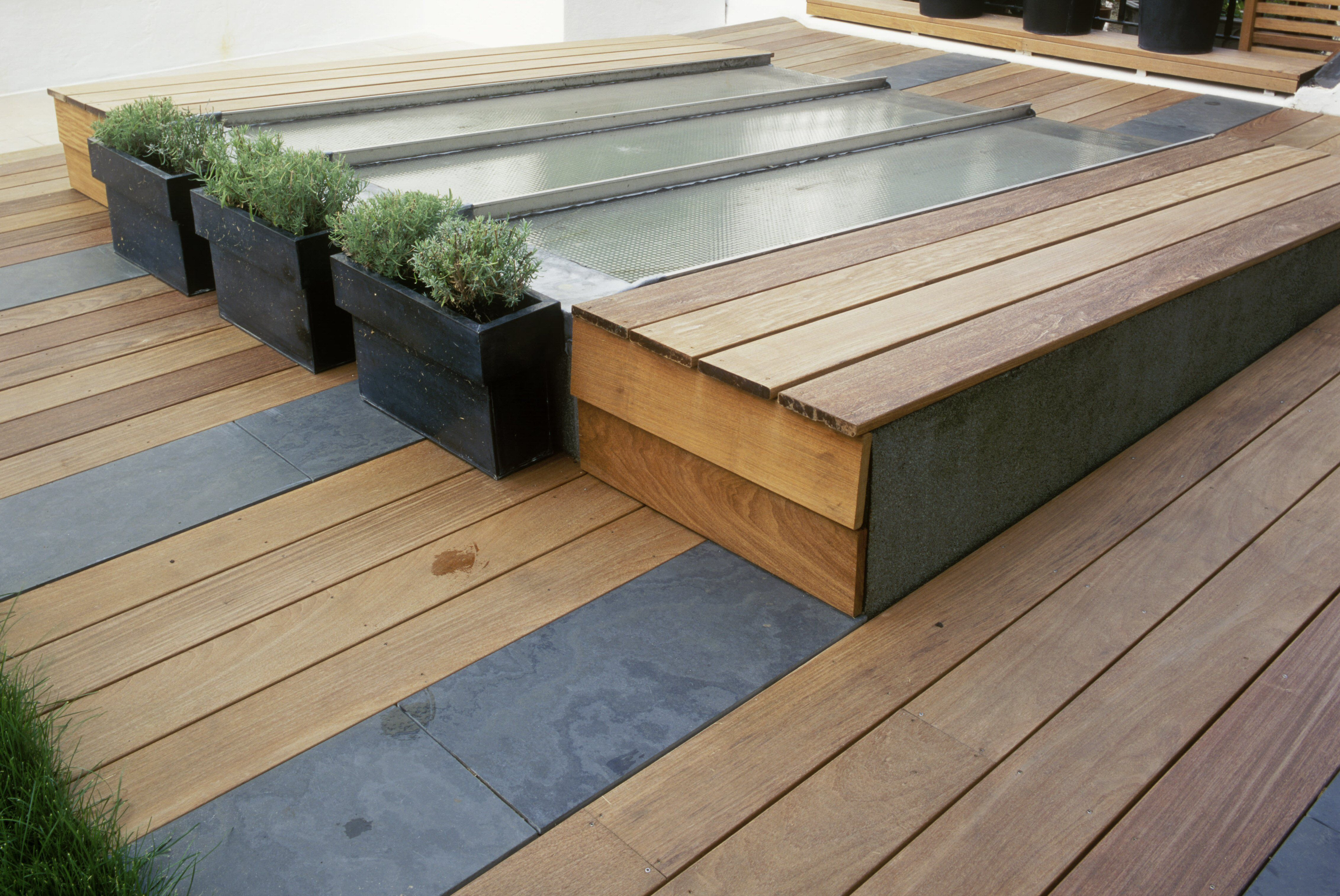 ipe hardwood flooring reviews of the best woods for decks and porches pertaining to ipe secking with slate inserts