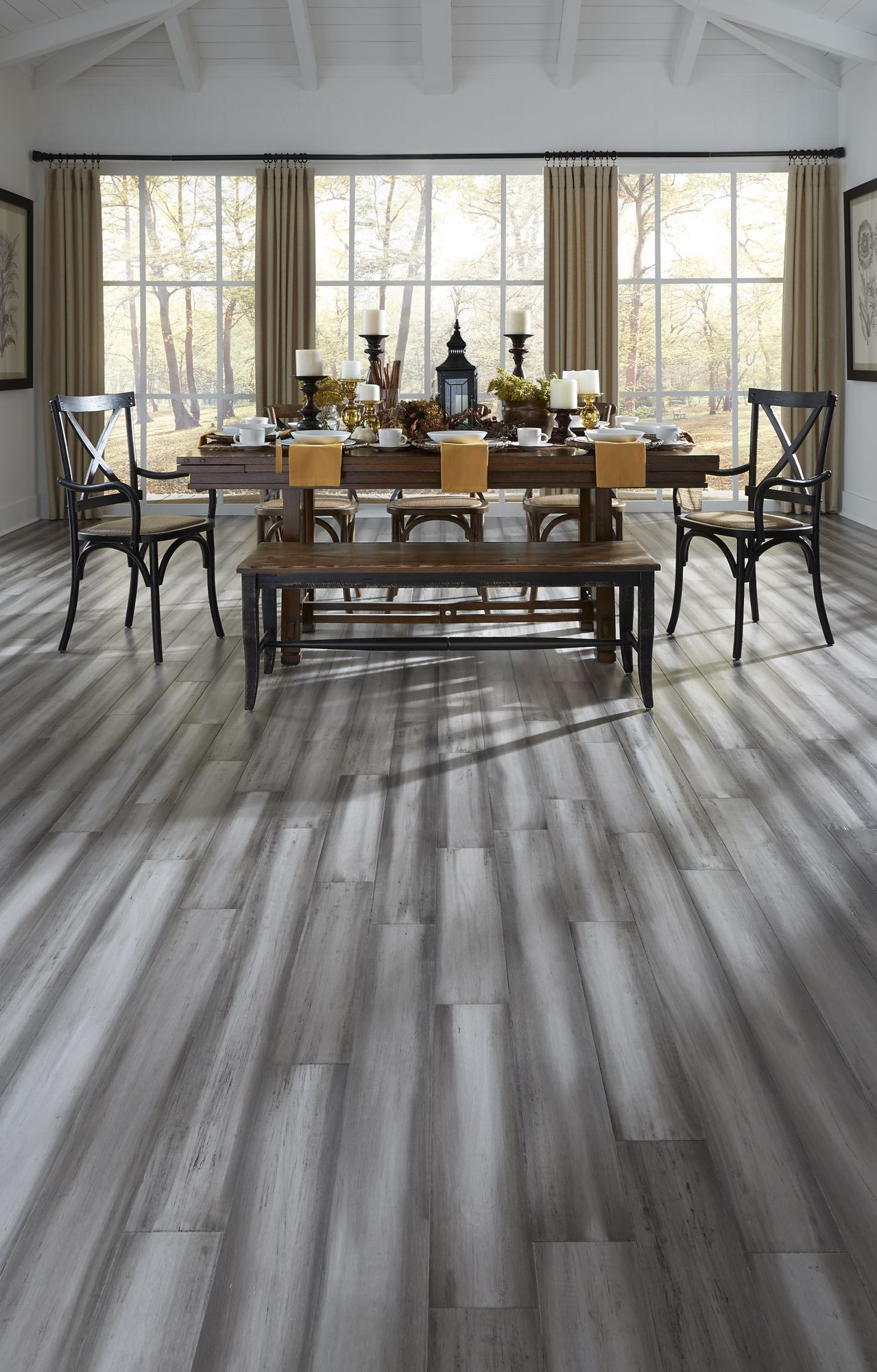 Is Bamboo Hardwood Flooring Good Of Modern Design and Rustic Texture Pair Perfectly with the Stately for Pair Perfectly with the Stately Blend Of Light and Dark Gray Shades to Offer Instant Charm In Silver Stone Distressed Bamboo This Hand Painted Floor