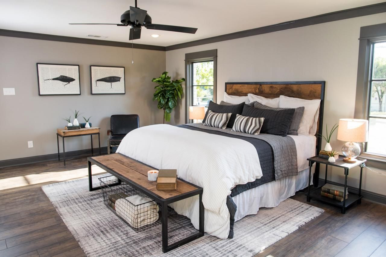 joanna gaines hardwood floor colors of a fixer upper bachelor pad get chip jos single guy design tips intended for see how chip and joanna gaines transformed this ranch house into a modern industrial space