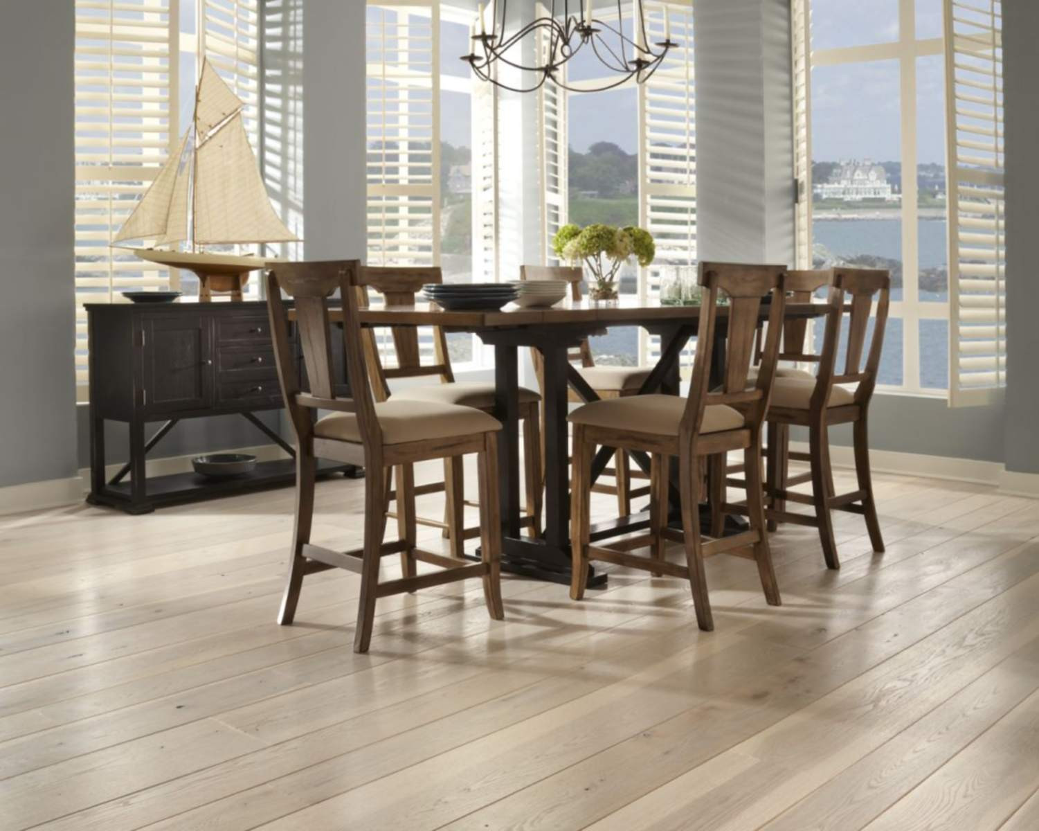 kentwood hardwood flooring reviews of top 5 brands for solid hardwood flooring throughout a dining room with carlisle hickorys wide plank flooring