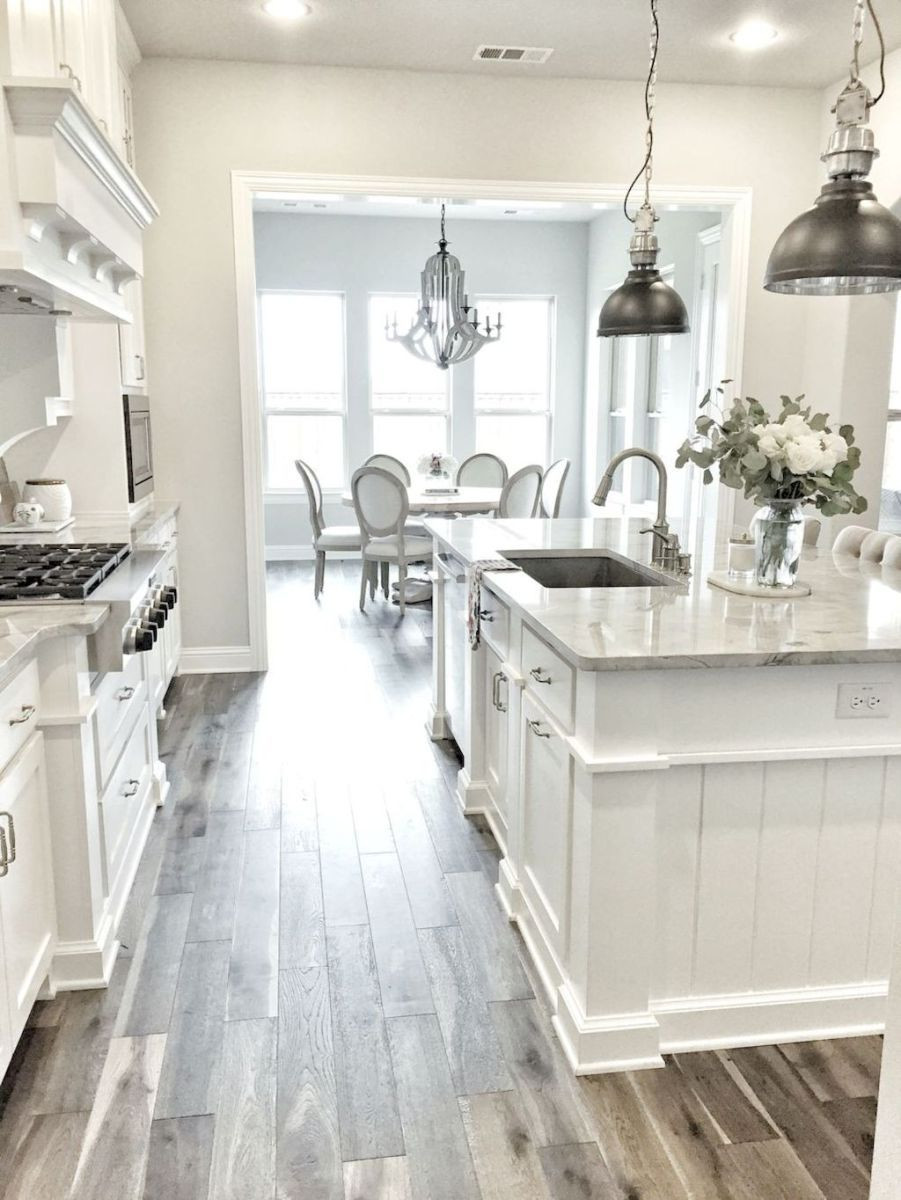 Hardwood Floors And White Cabinets