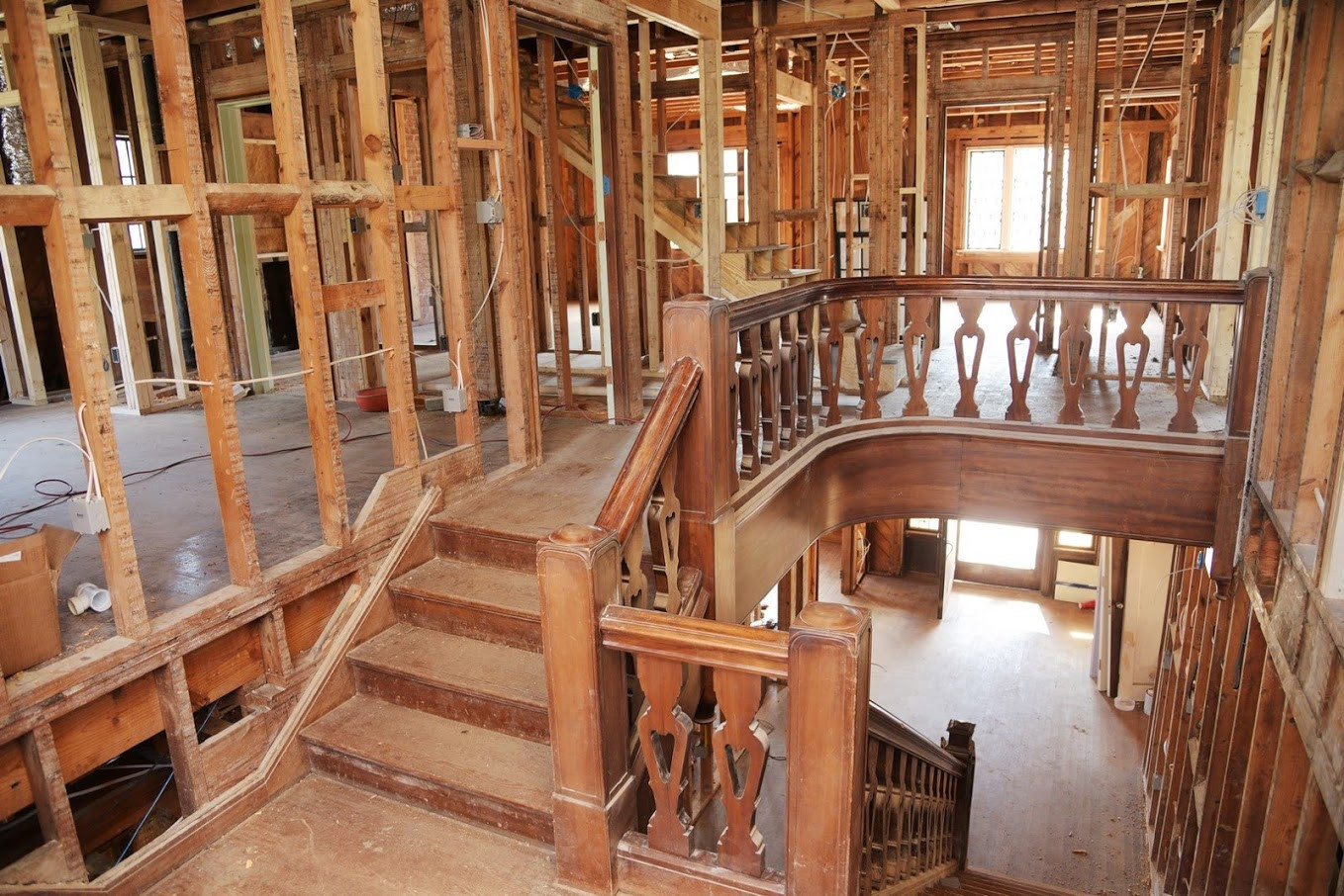 kw hardwood floors charlotte nc of cote de texas the aidan gray agwithanedge winners in before randal took the house down to the studs it was this beautiful iconic banister that sold randal on the house after the wood floors