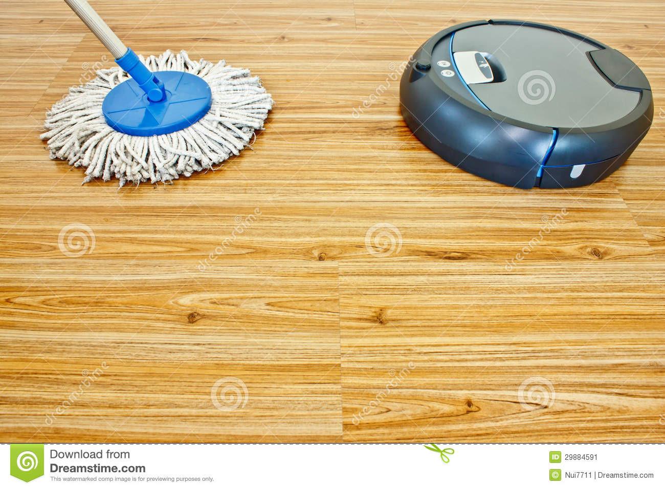 laminate flooring versus hardwood of floor washing robot and traditional mop 1 stock image image of for floor washing robot and traditional mop on laminate wood floor
