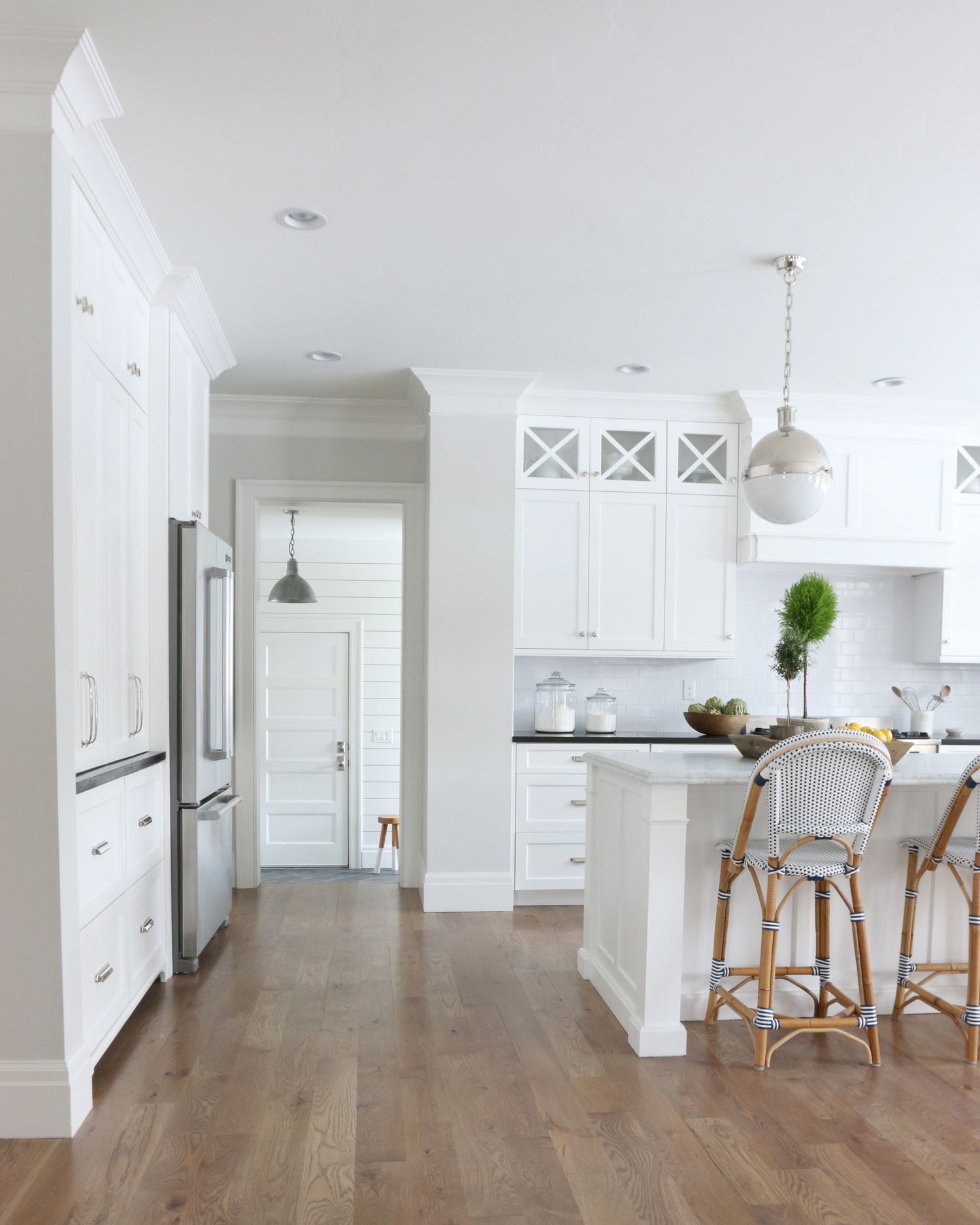 light hardwood floors wall color of the midway house kitchen pick a paint color pinterest kitchen pertaining to when you want just a hint of very light warm gray benjamin moore classic gray always looks amazing