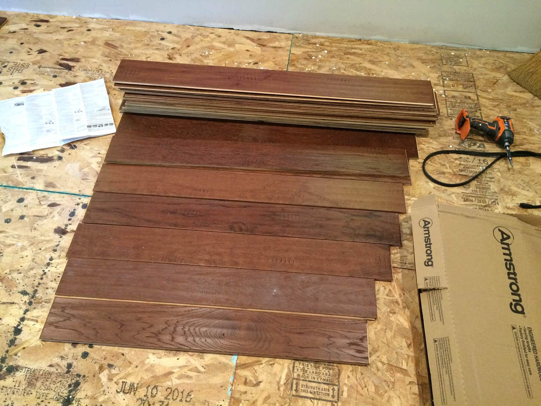 lowes canada hardwood flooring sale of the micro dwelling project part 5 flooring the daring gourmet with regard to laying down the sub flooring was fine but honestly the thought of installing hardwood floors seemed extremely intimidating we were pretty nervous going in