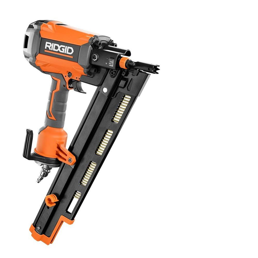 manual hardwood floor nailers for sale of ridgid 21 degree 3 1 2 in round head framing nailer r350rhf the regarding round head framing nailer