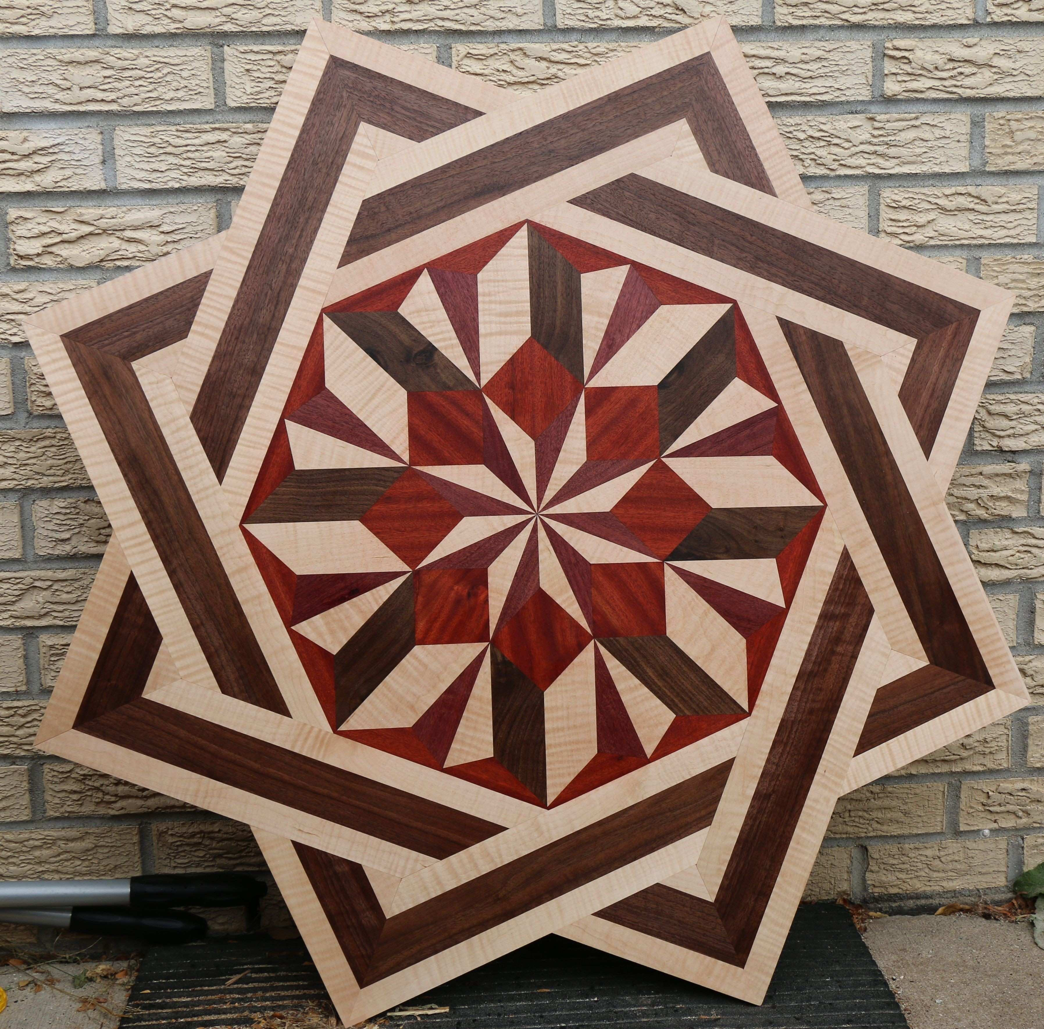 maple hardwood flooring pictures of wood medallion wall art new hardwood floor medallion using walnut throughout wood medallion wall art new hardwood floor medallion using walnut maple padauk and purple